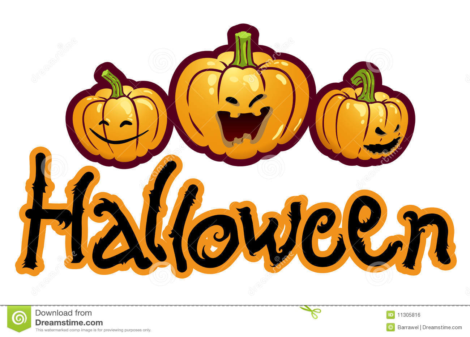Halloweenbetitelung - drei Kürbisköpfe Jack