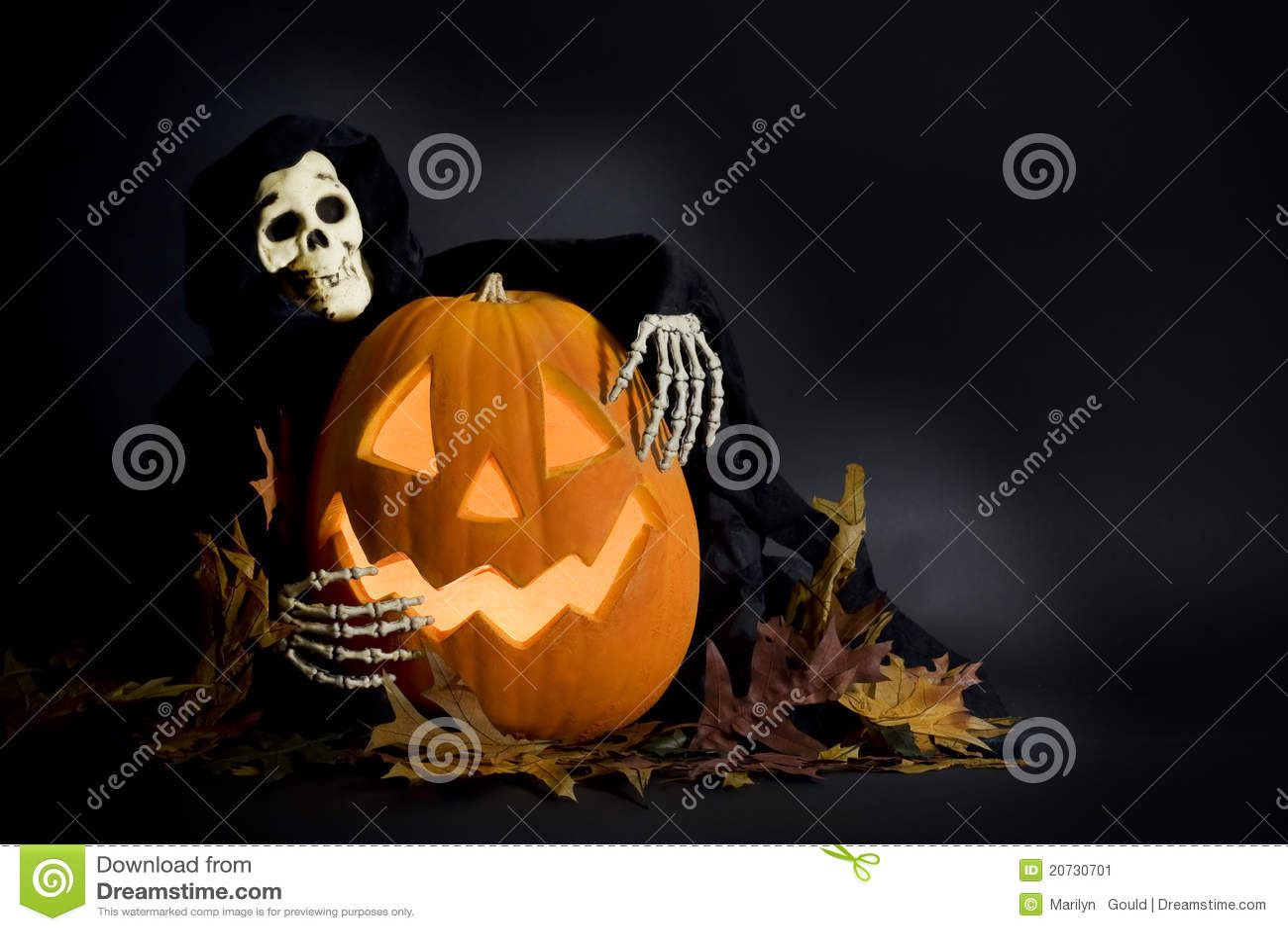 Halloweenkürbis u. Ghoul