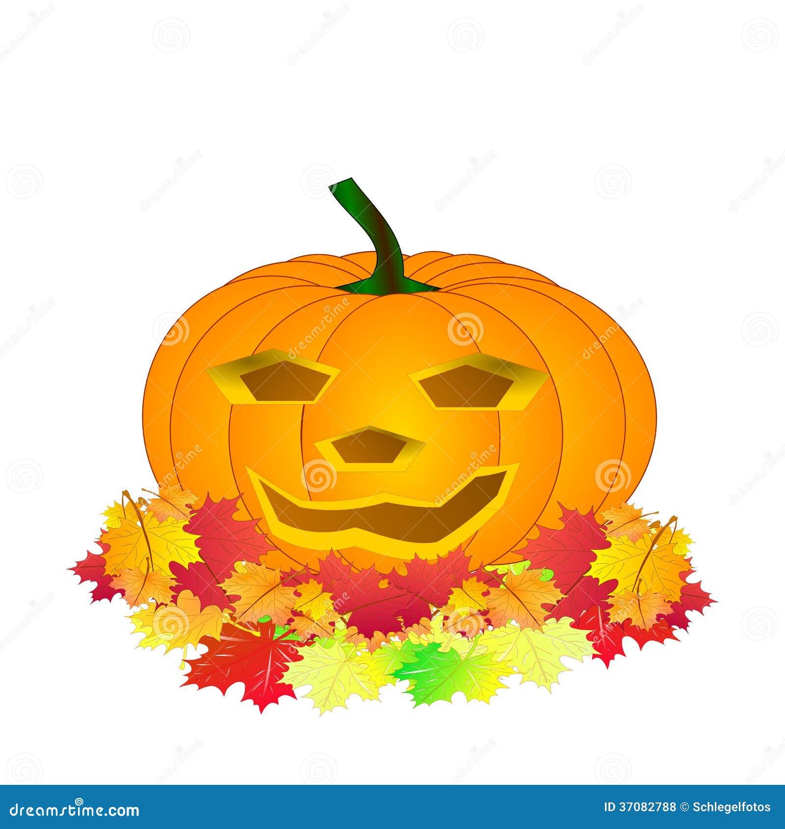 Download Halloweenowa Bania Odizolowywająca Ilustracji - Ilustracja złożonej z dekoracje, pomarańcze: 37082788