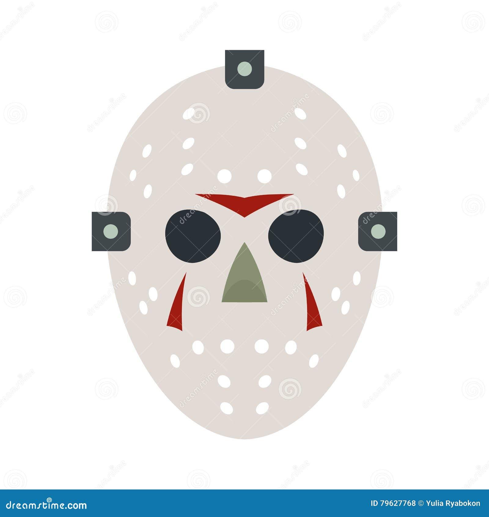 Halloweenowa hokej maski mieszkania ikona