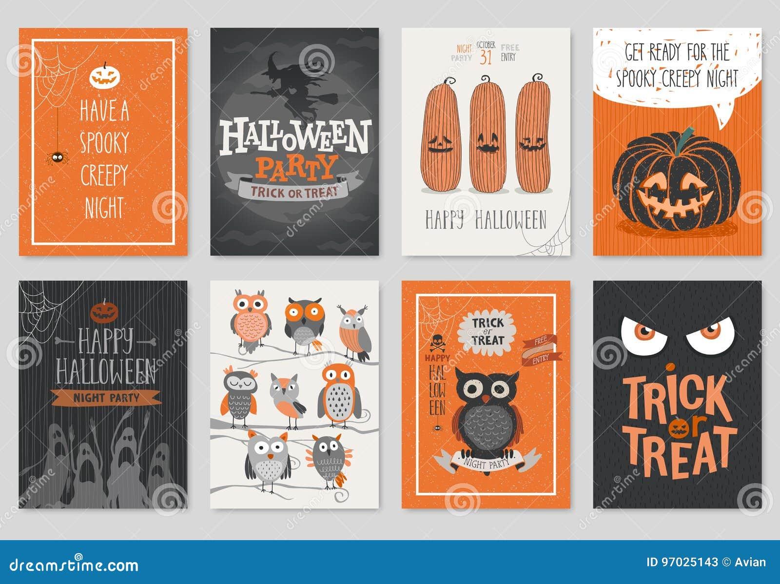 Halloweenowa ręka rysujący zaproszenie lub kartka z pozdrowieniami ustawiający