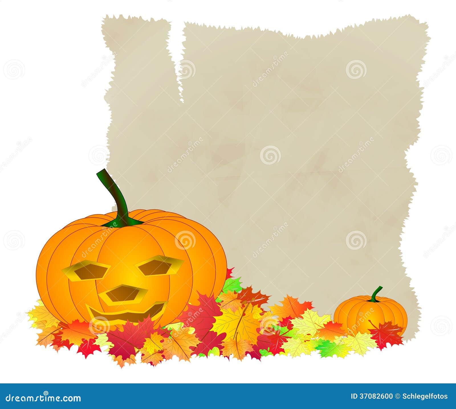 Download Halloweenowi Dyniowi Jesień Liście Ilustracji - Ilustracja złożonej z blank, halloweens: 37082600