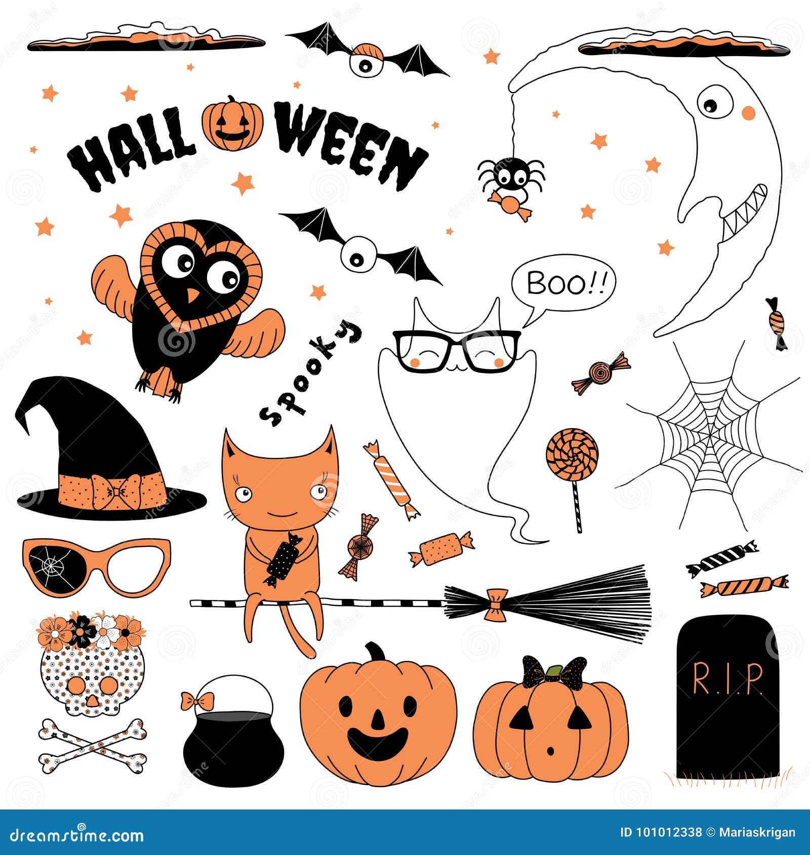 Halloweenowi projektów elementy inkasowi