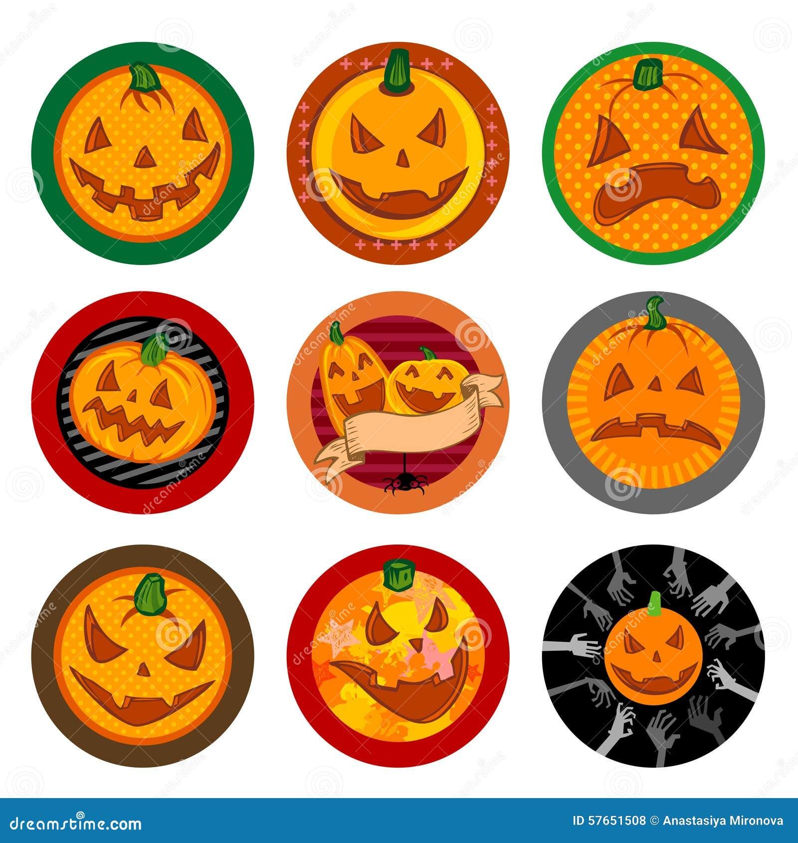 Halloweenowi Wektorowi napojów kabotażowowie