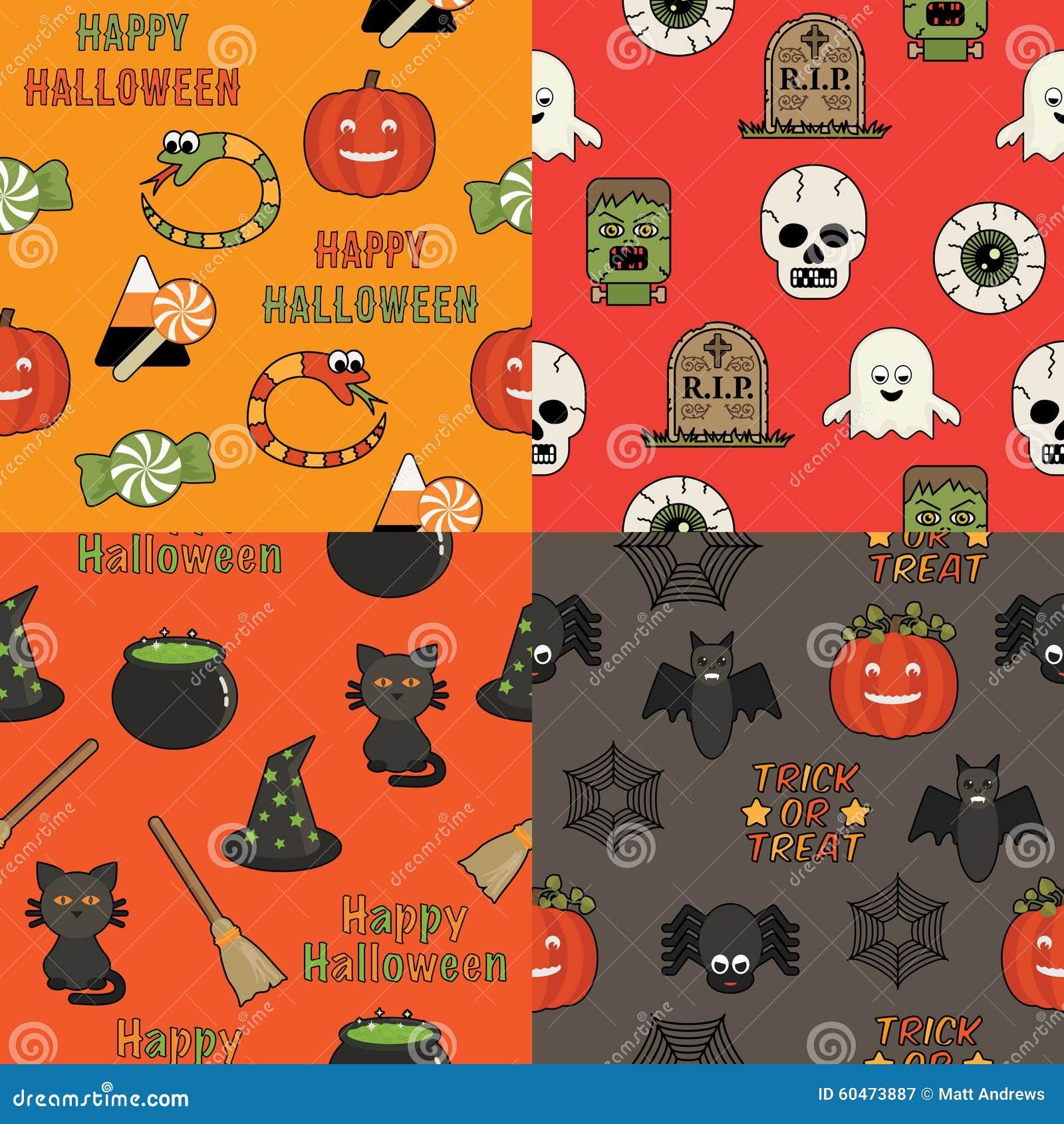 Halloweenowi wzory