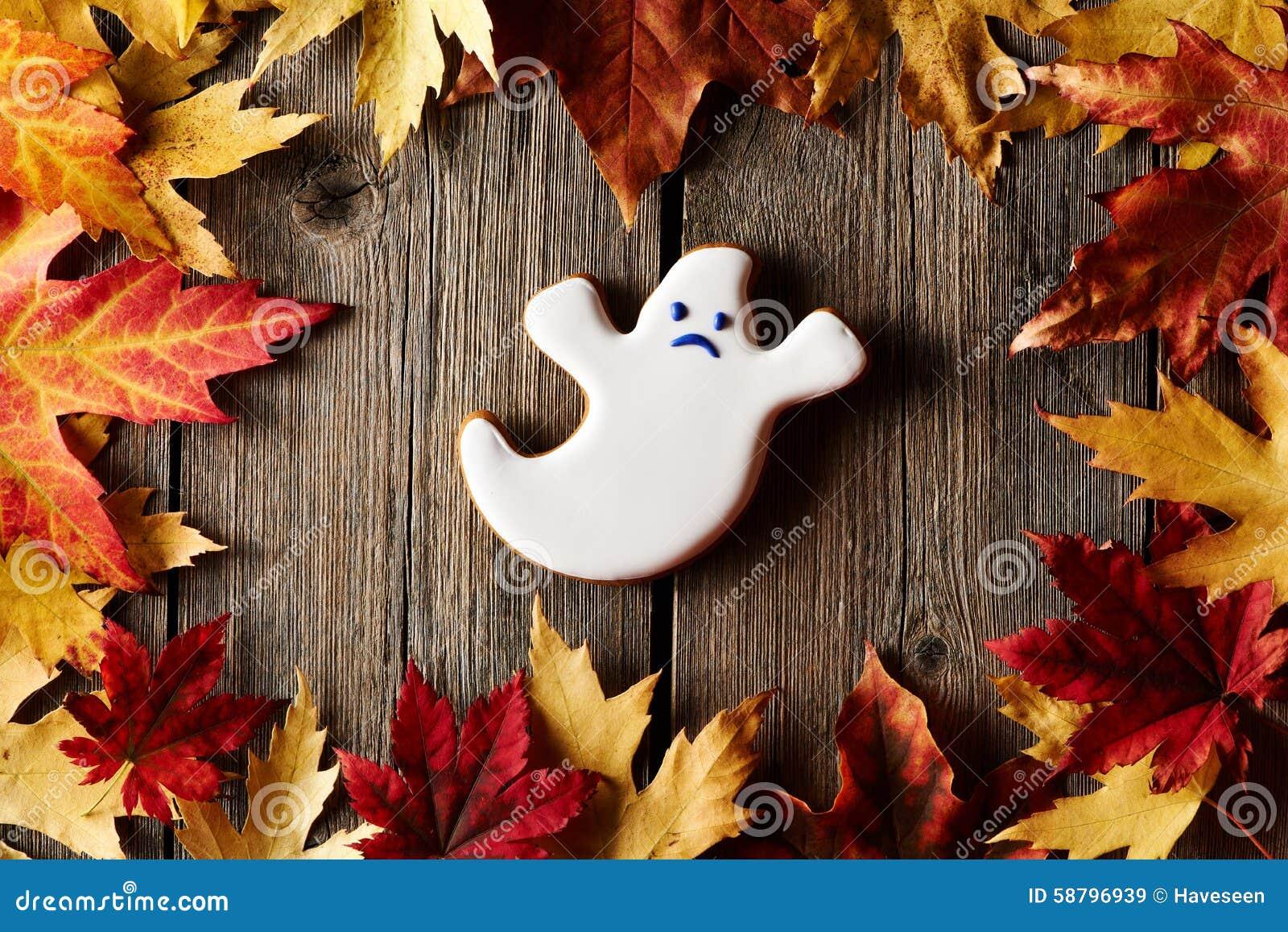 Halloweenowy domowej roboty piernikowy ciastko