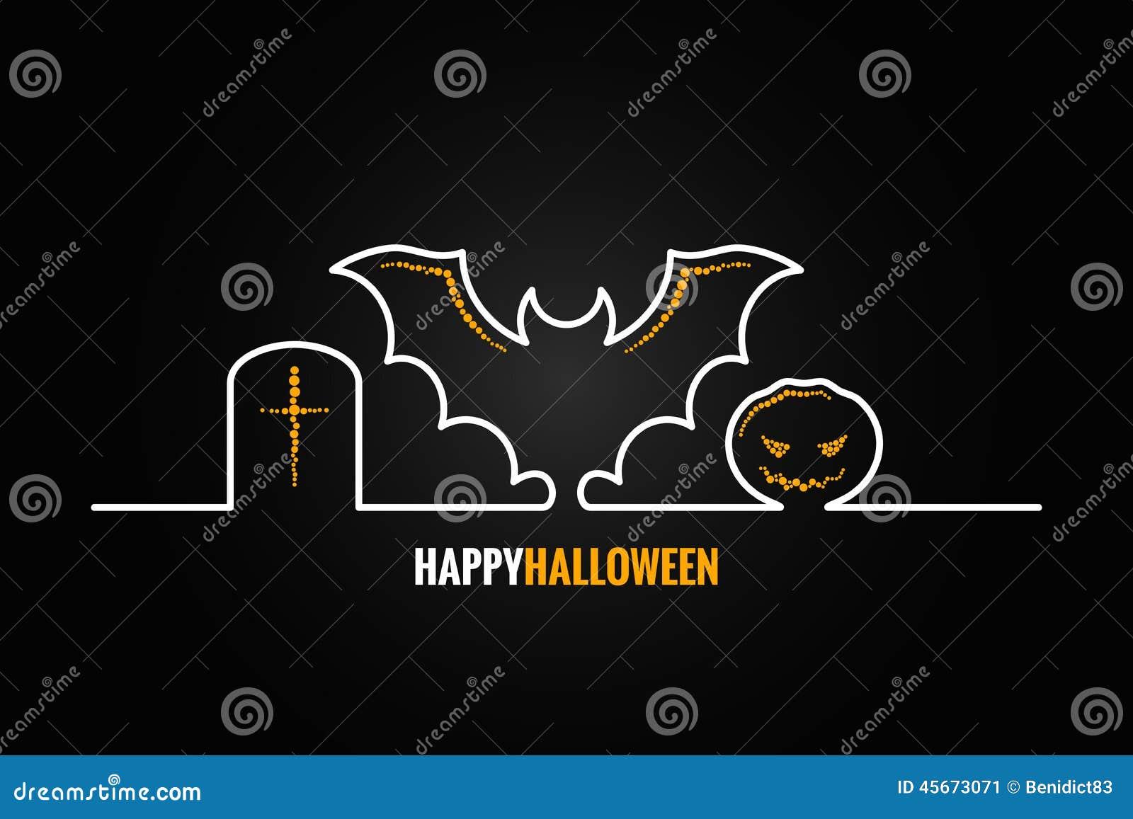 Halloweenowy dyniowy nietoperza projekta tło