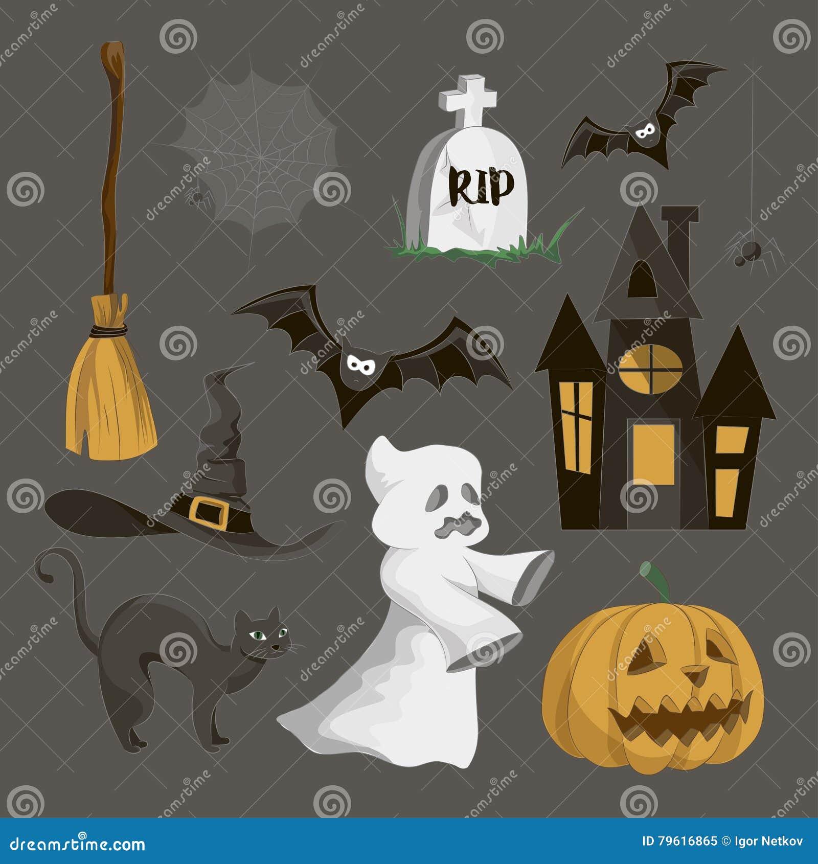 Halloweenowy ikona set