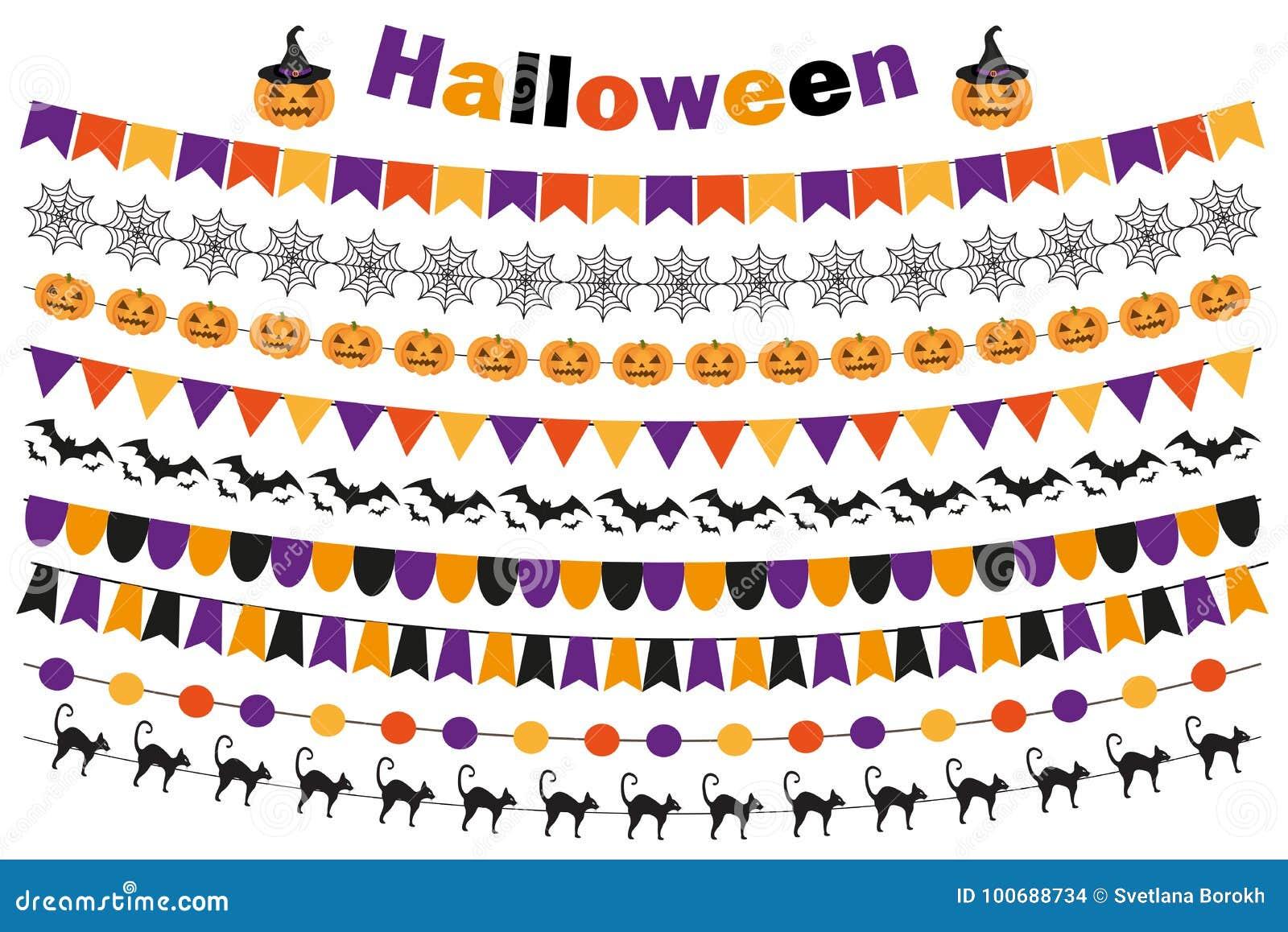 Halloweenowy Ustawiający świąteczne Dekoracje Zaznacza