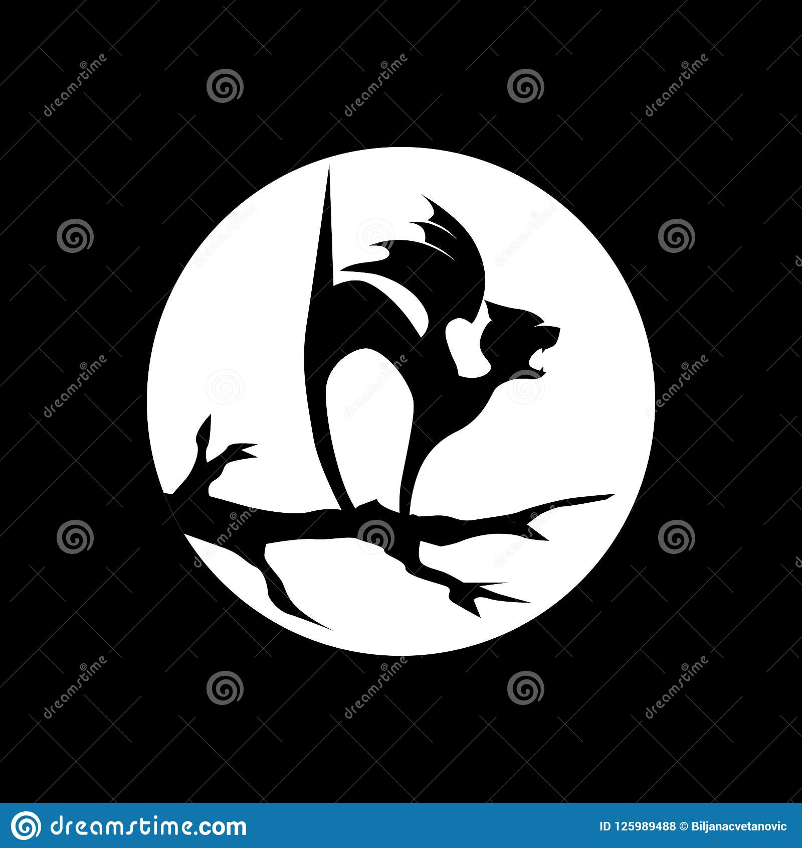 Hallowen, vampire kitten stock vector  Illustration of