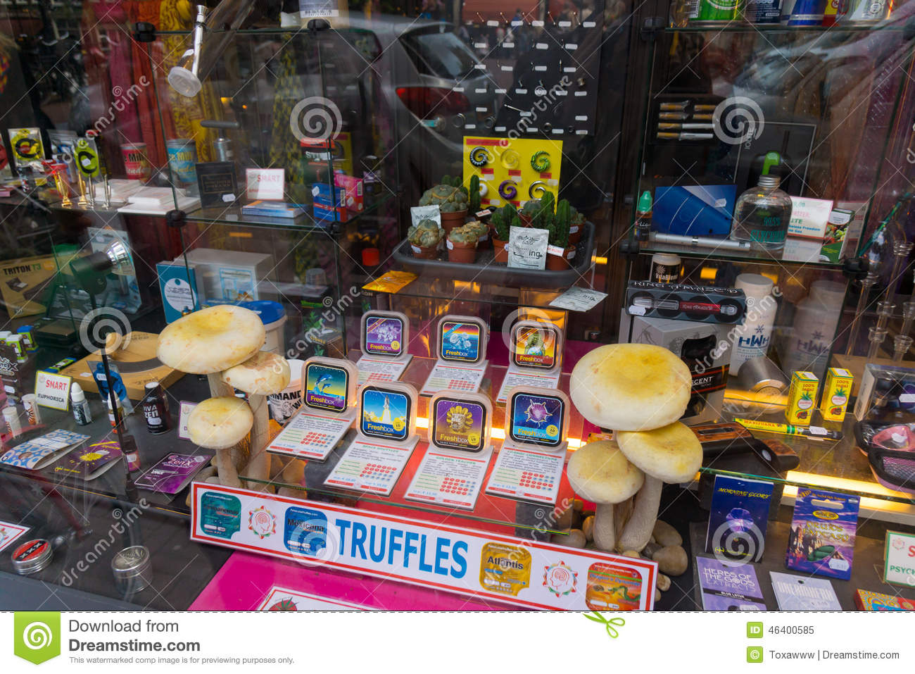 Hallucinogenic mushrooms and their products editorial for Amsterdam products