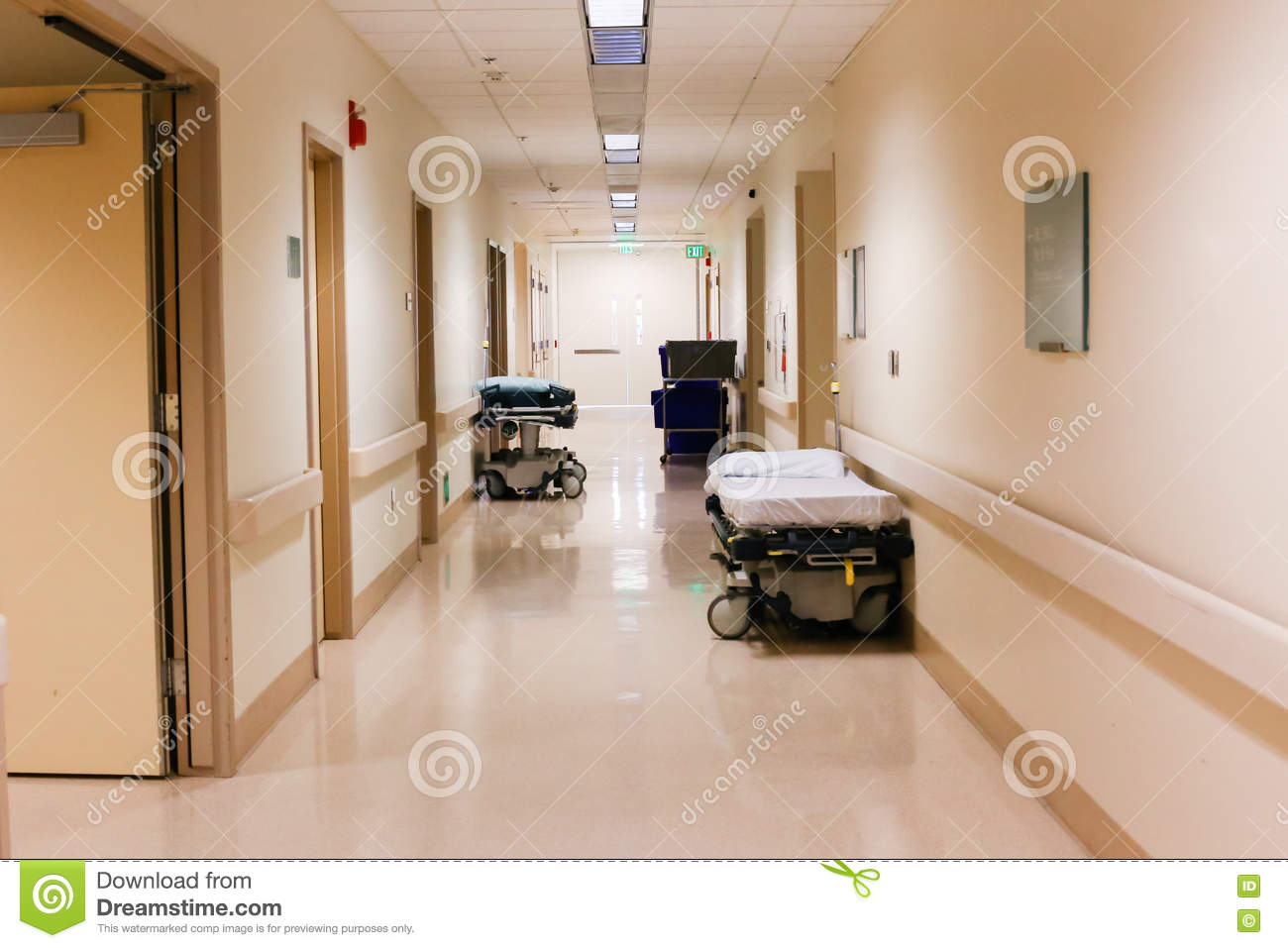 Download Hallway Or Corridor In Hospital Medical Facility Stock Photo