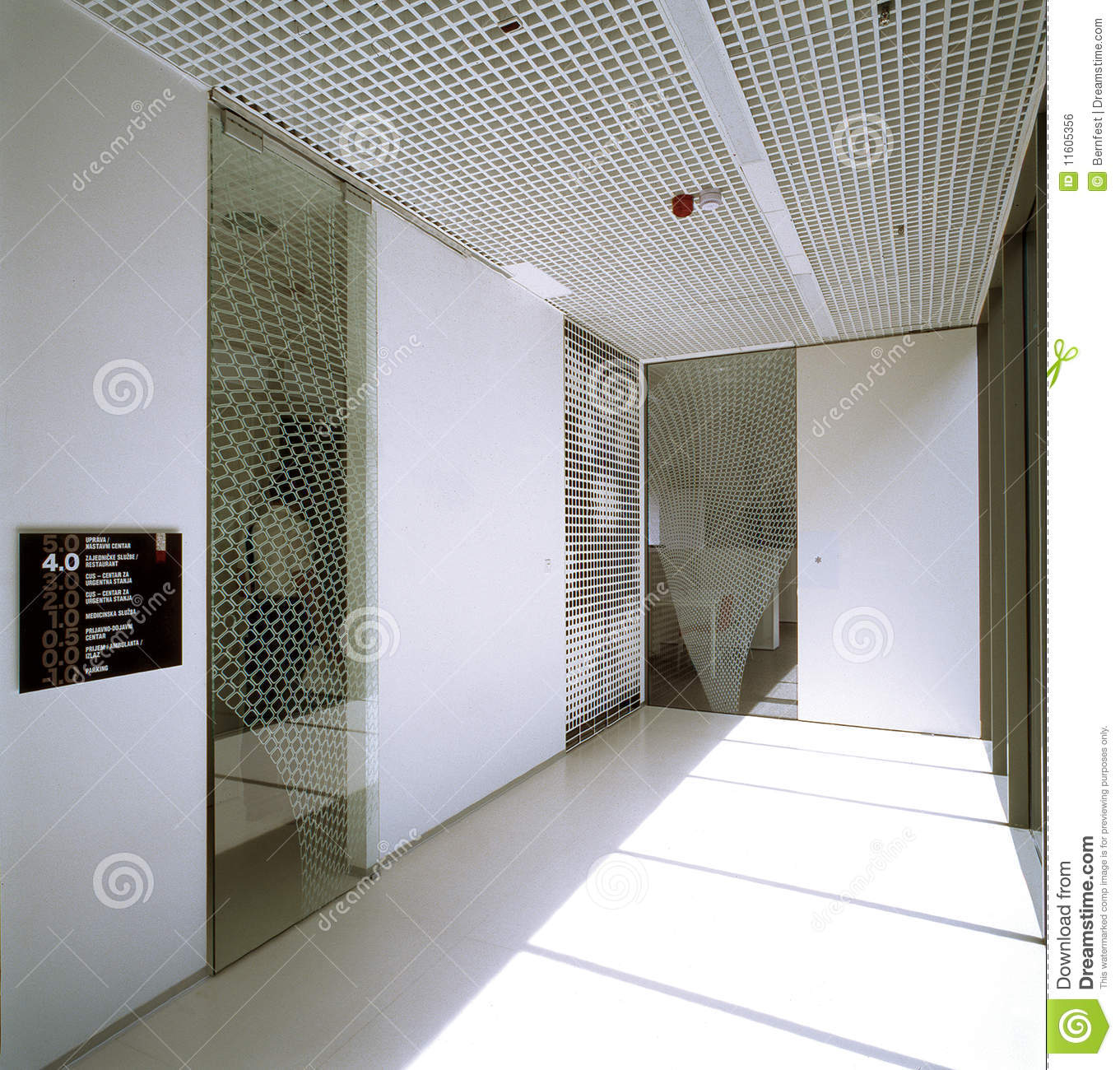 Hallway in modern office building stock photo image for Office hallway design