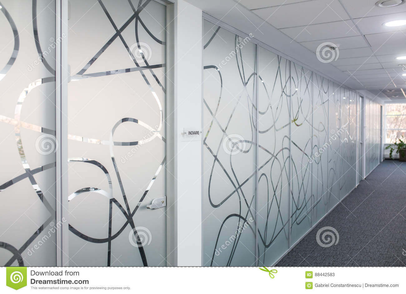 Hallway in office building