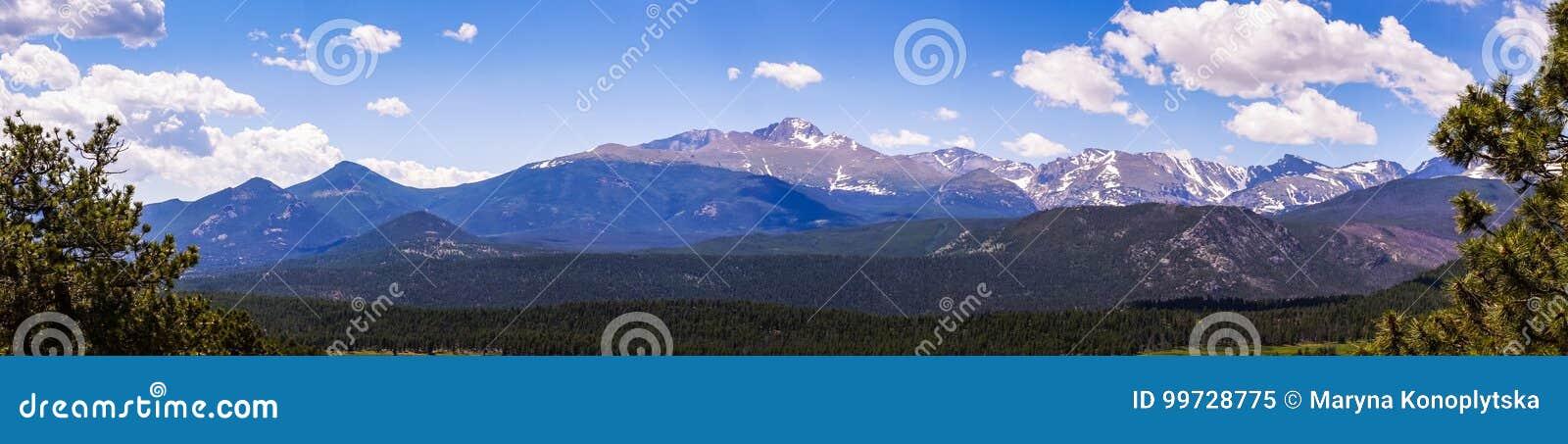 Halna pogodna dolina Podróż Skalistej góry park narodowy Kolorado, Stany Zjednoczone