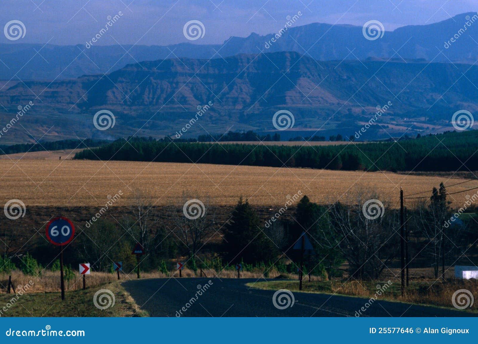 Halna sceneria, Południowa Afryka.