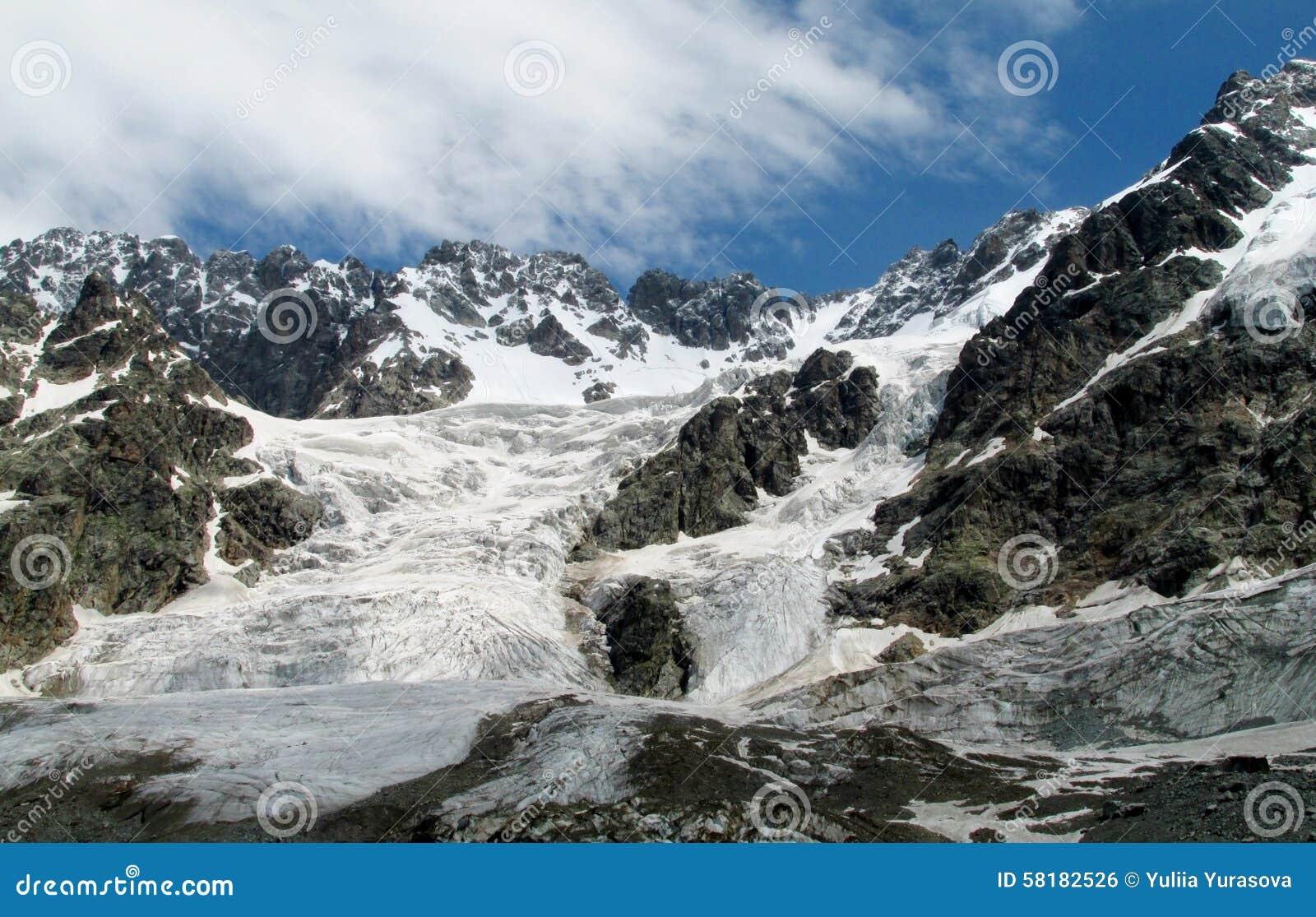 Halni lodowowie i szczytu krajobraz