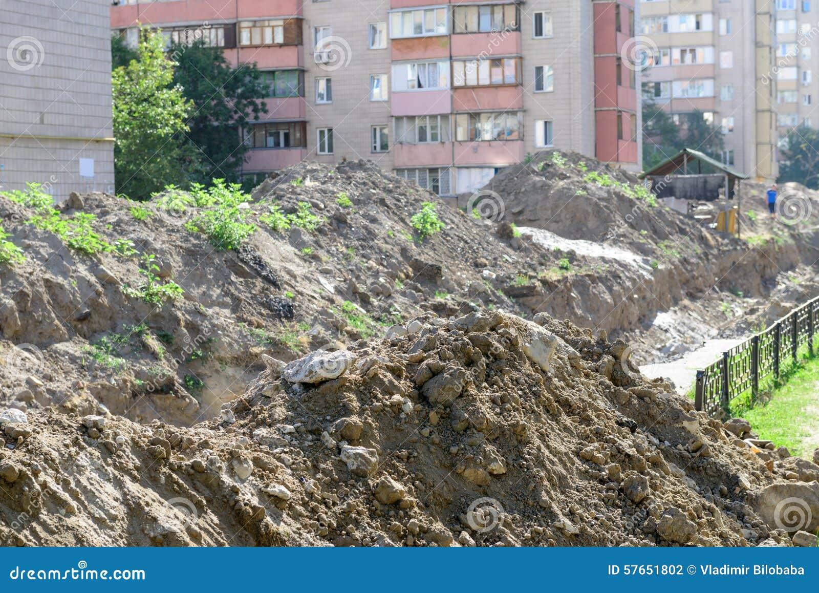 Halny budowa odpady