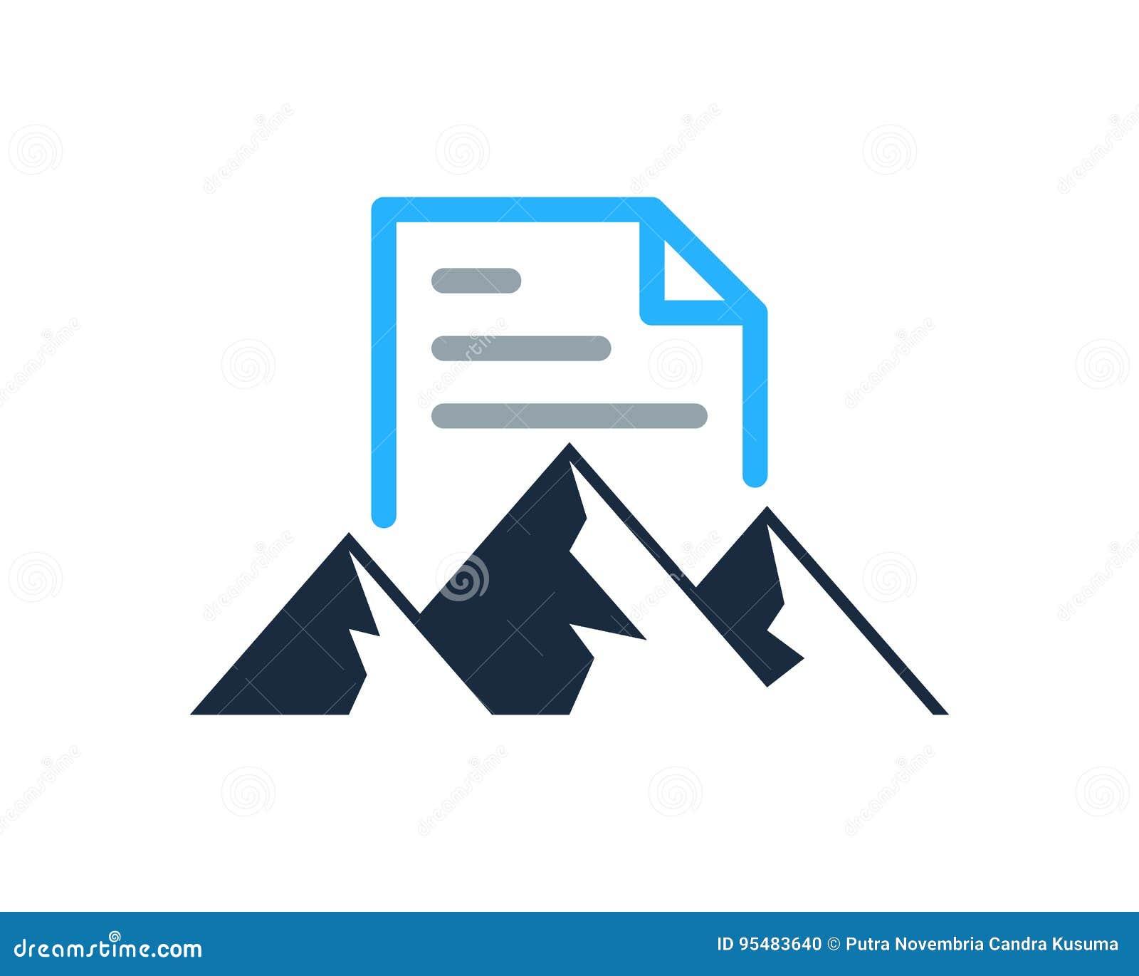 Halny dokument ikony loga projekta element