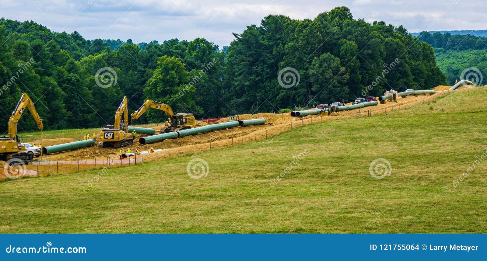 Halny Dolinny rurociąg Używać Ciężkiego budowy wyposażenie - 2
