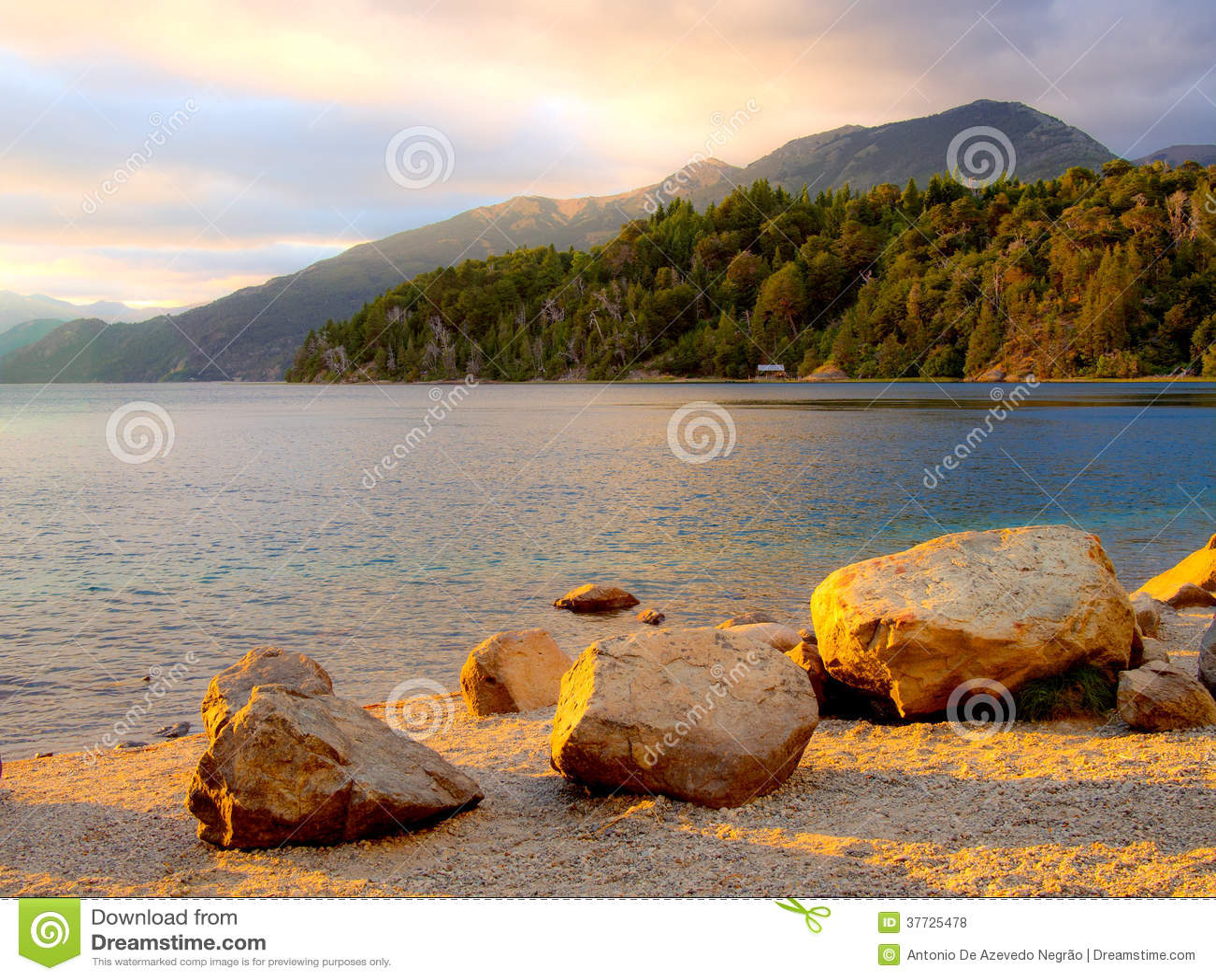 Halny jezioro