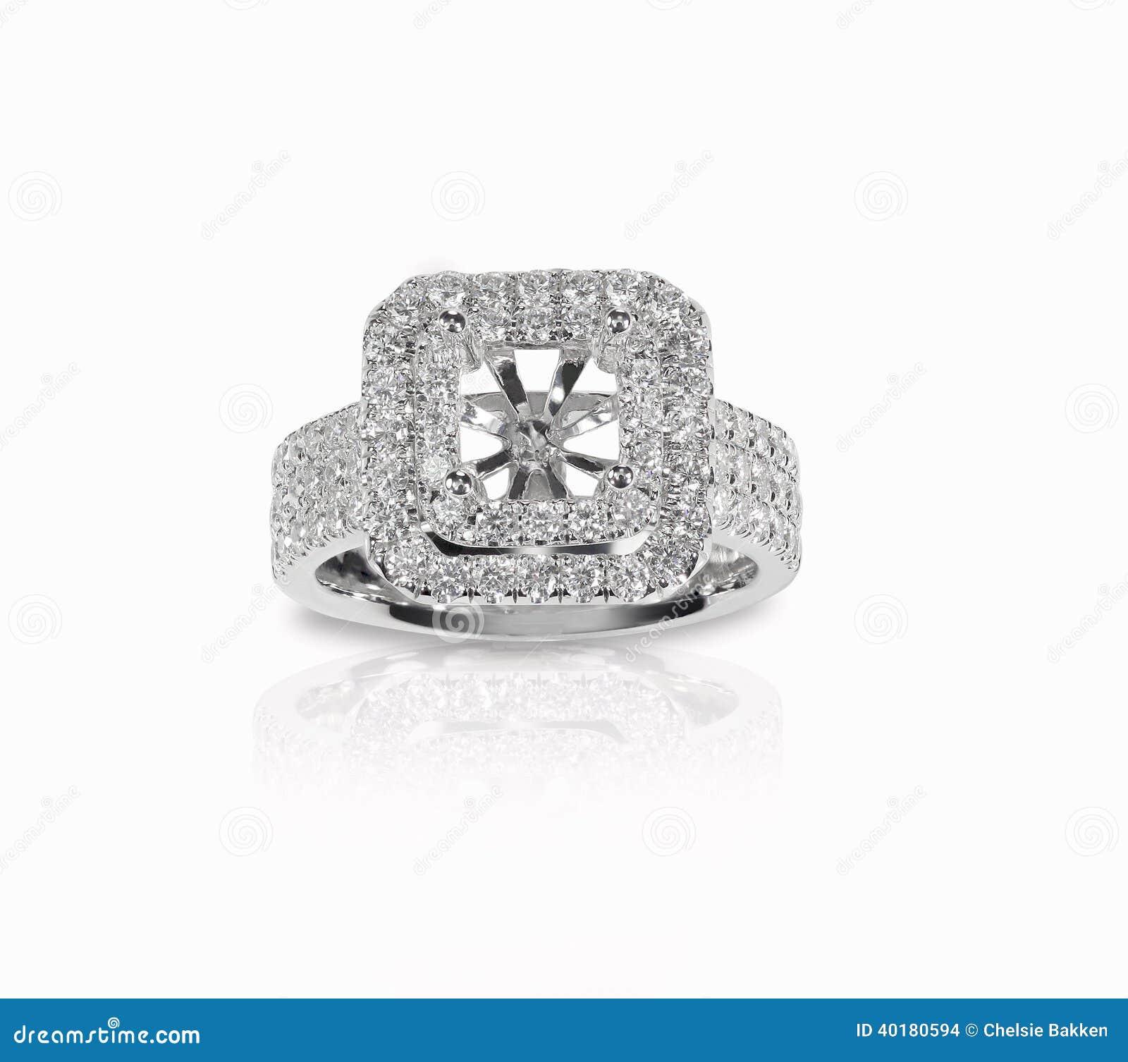 Halo DIamond Engagment Wedding Ring Setting