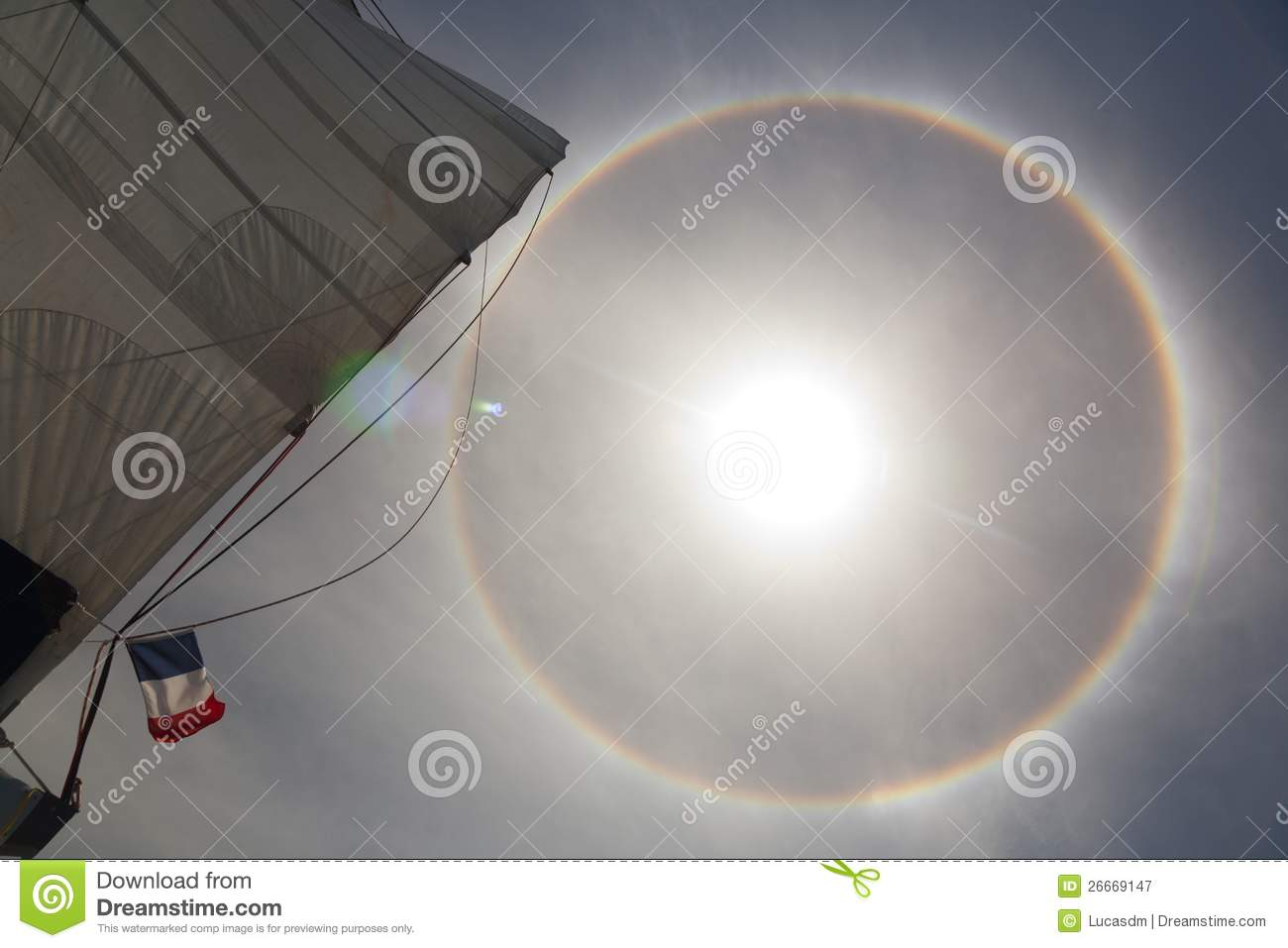 Halo Effect On The Ocean 2 Royalty Free Stock Photography - Image ...