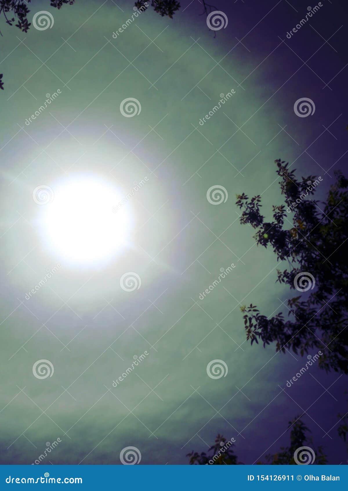 Halo rainbow stock image. Image of refraction, cloud ...
