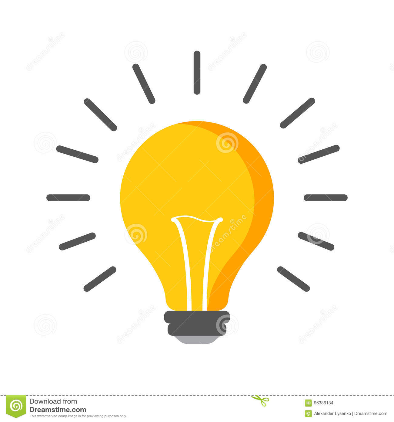 Halogen lightbulb icon. Light bulb sign. Electricity and idea symbol. Icon on white background. Flat vector illustration.