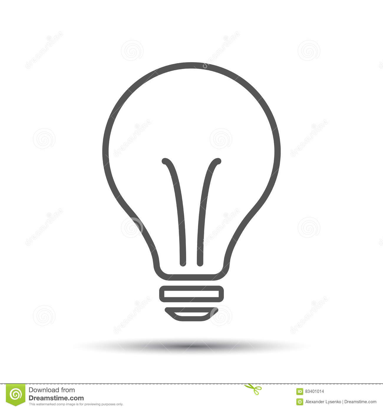 Set Of Hand Drawn Light Bulbs Symbol Of Ideas Stock: Halogen Lightbulb Icon. Light Bulb Sign. Electricity And