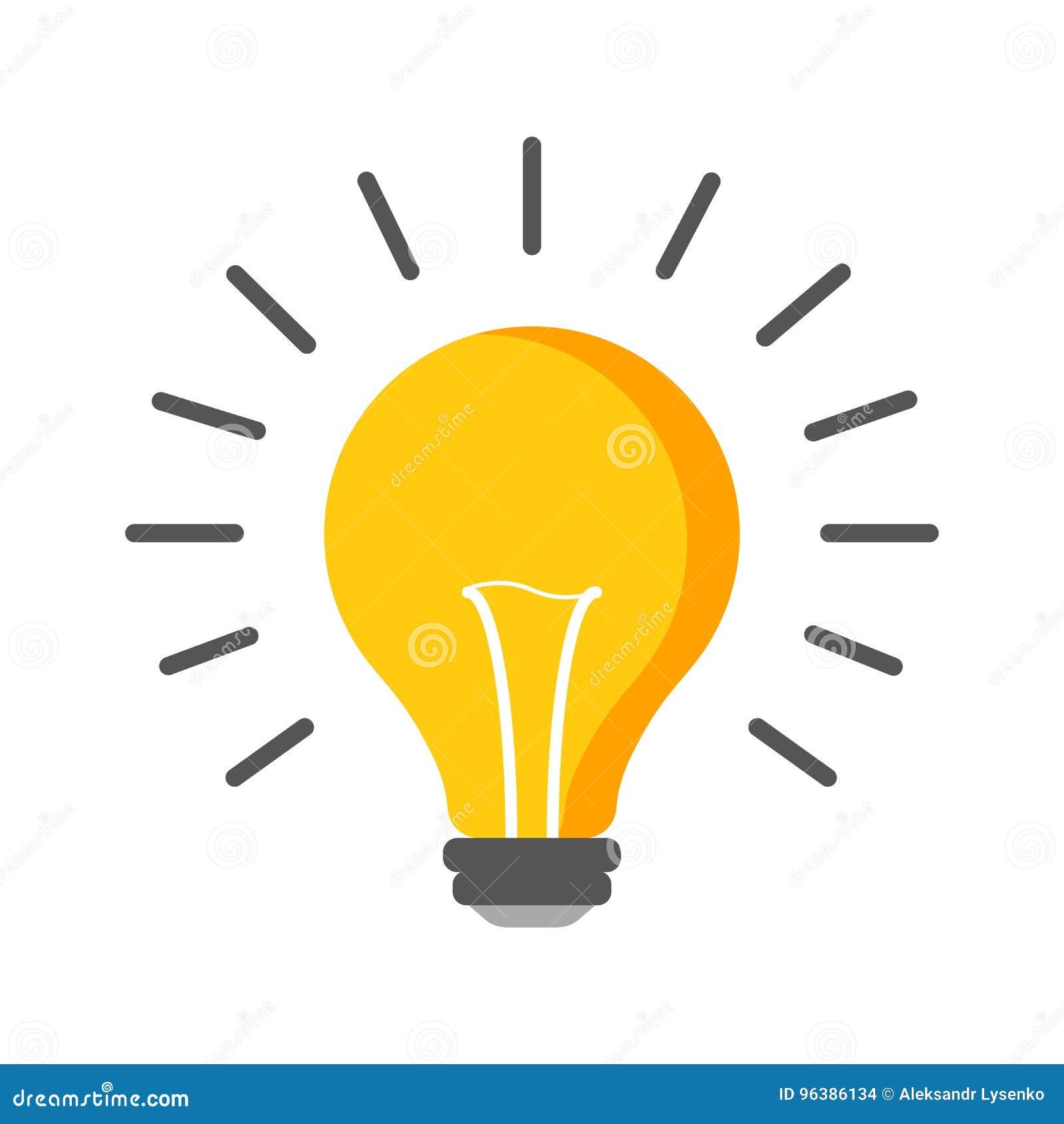 Halogenglühlampenikone Glühlampezeichen Strom und Idee sy