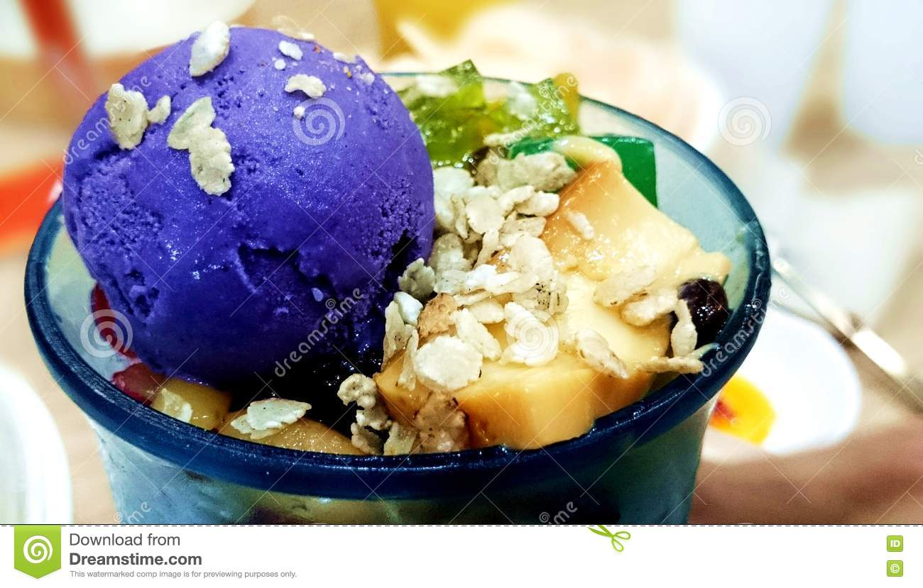 Halohalo philippines cup dessert ice cool