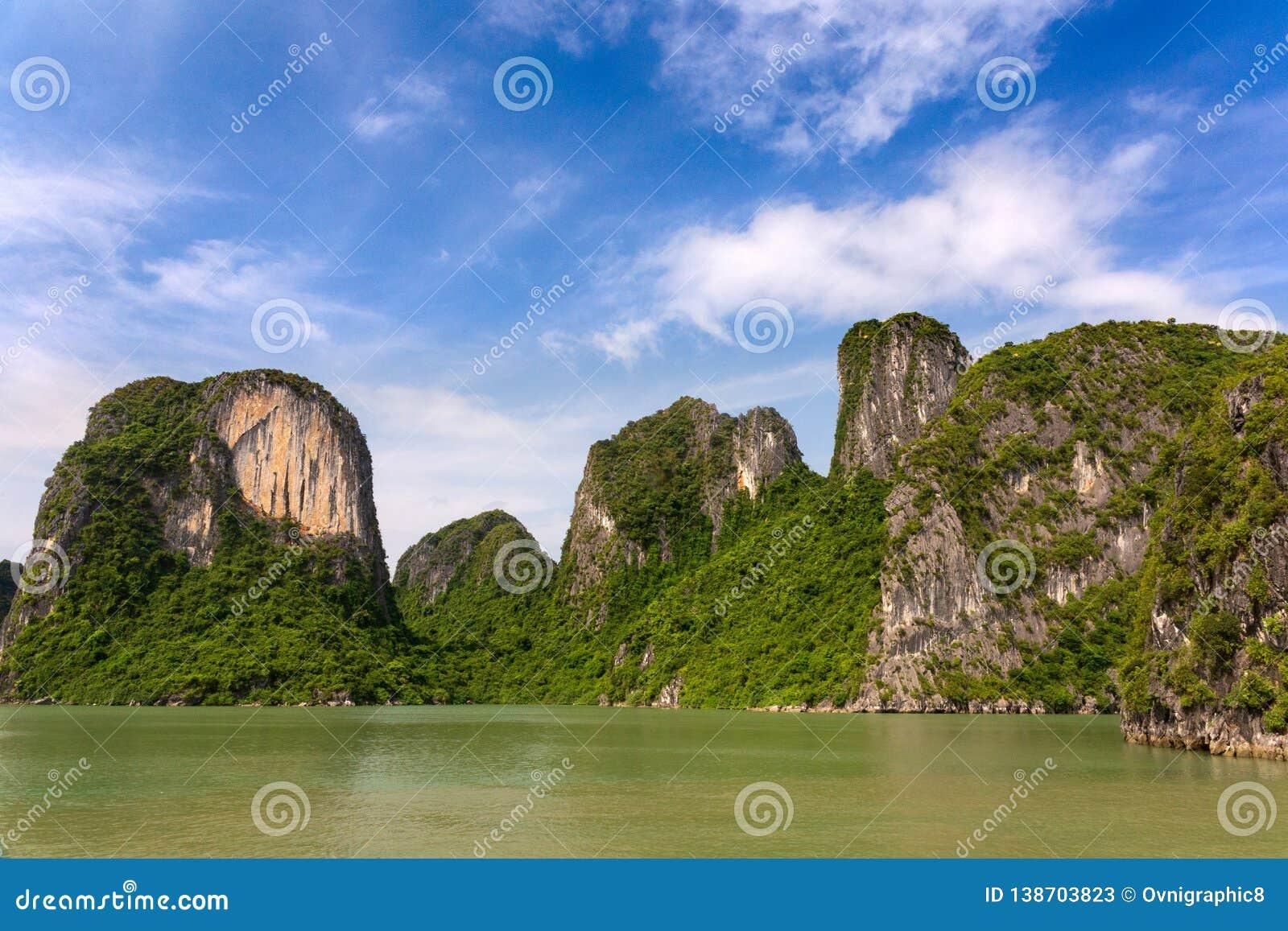 Halong Bay limestone formations, UNESCO world natural Heritage, Vietnam