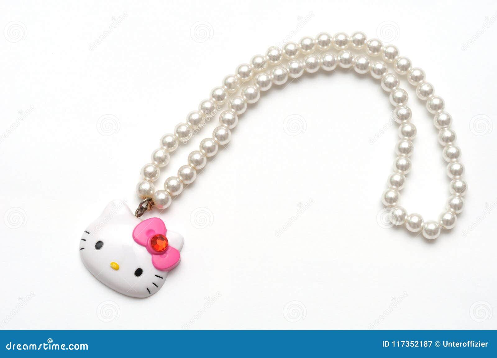 Halsband för Hello Kitty en plast- leksakpärla