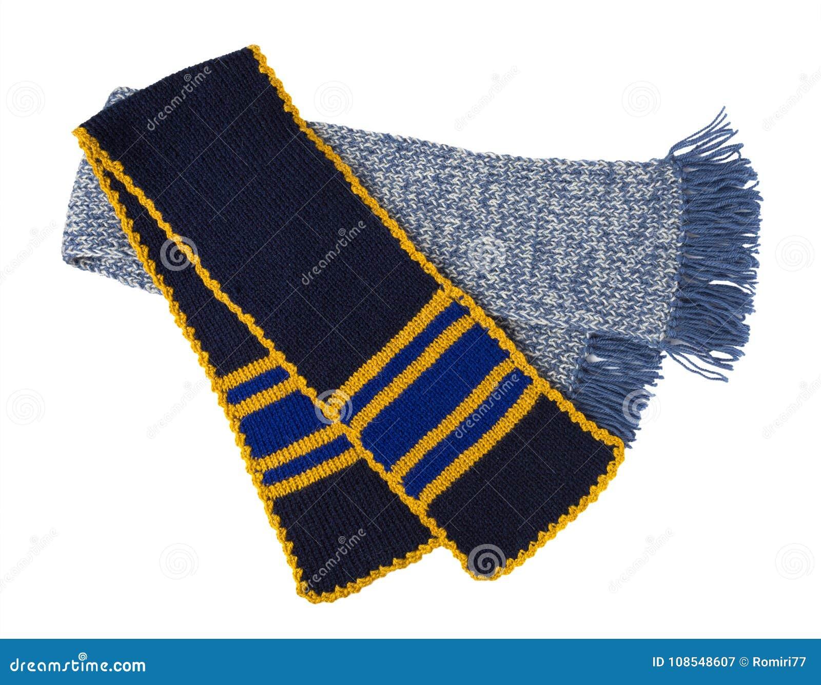 Halsduk stucken handwork Färgrik woolen halsduk