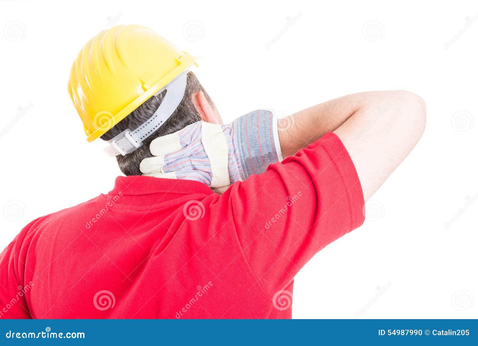 Halsen för konstruktörlidandebaksida smärtar