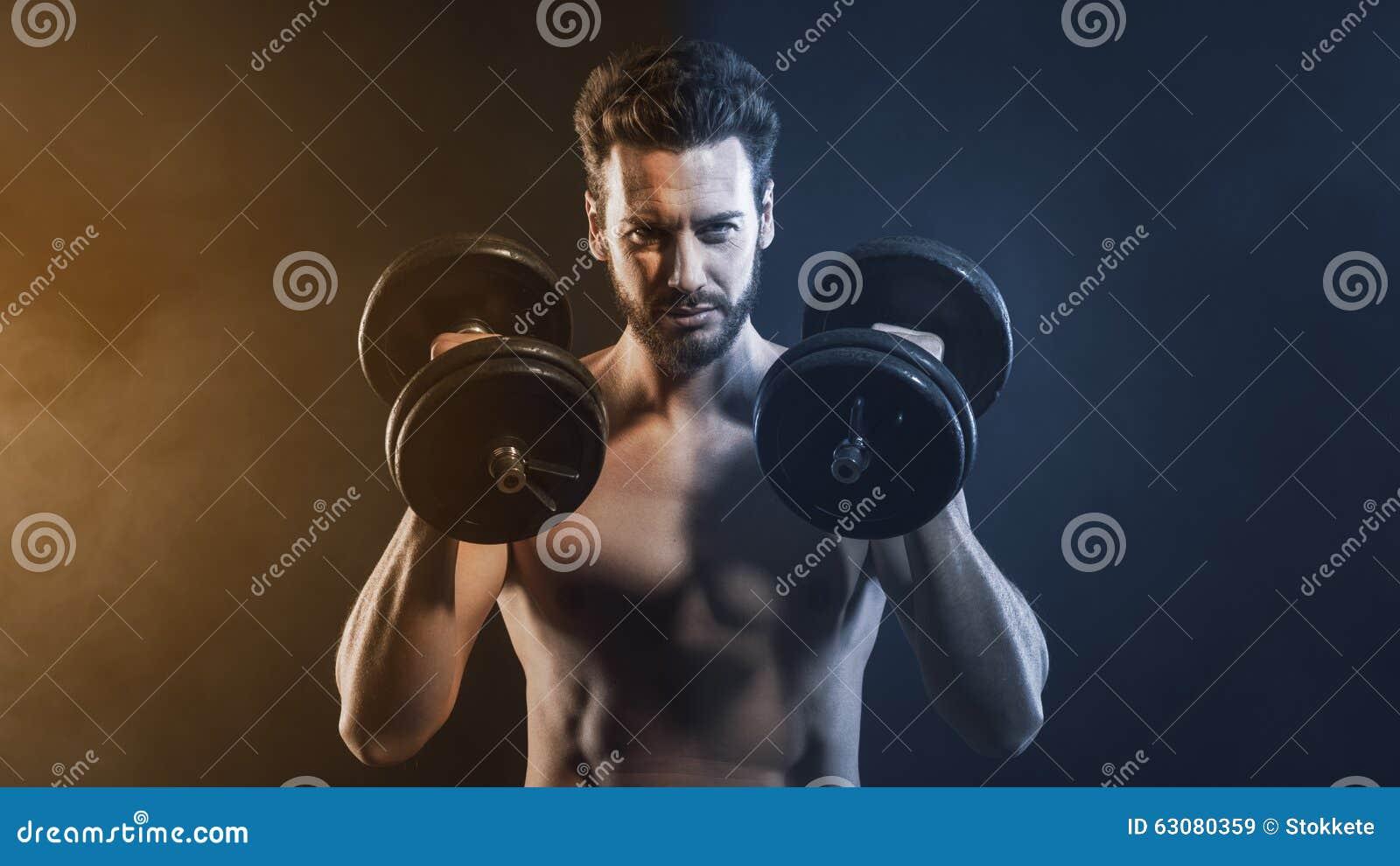 Download Haltérophilie Attrayante D'homme Image stock - Image du perte, résistance: 63080359