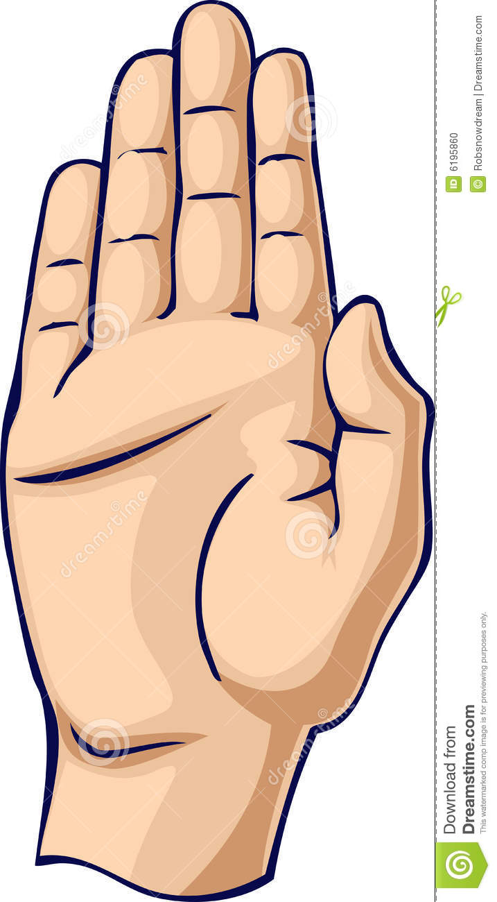 Haltstop Hand Gesture Stock Vector Illustration Of Shadow 6195860