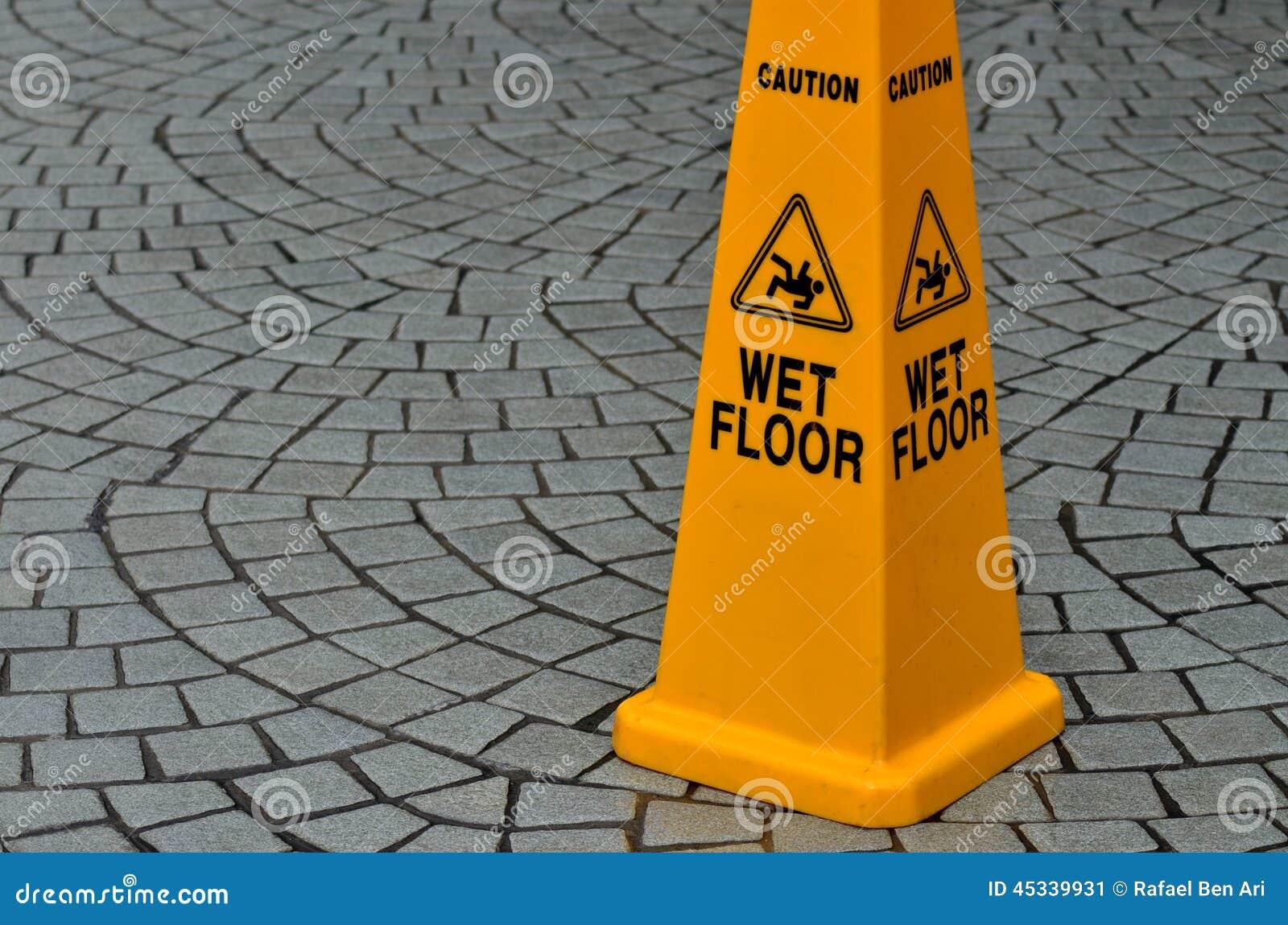 Halt tecken för golvyttersidavarning