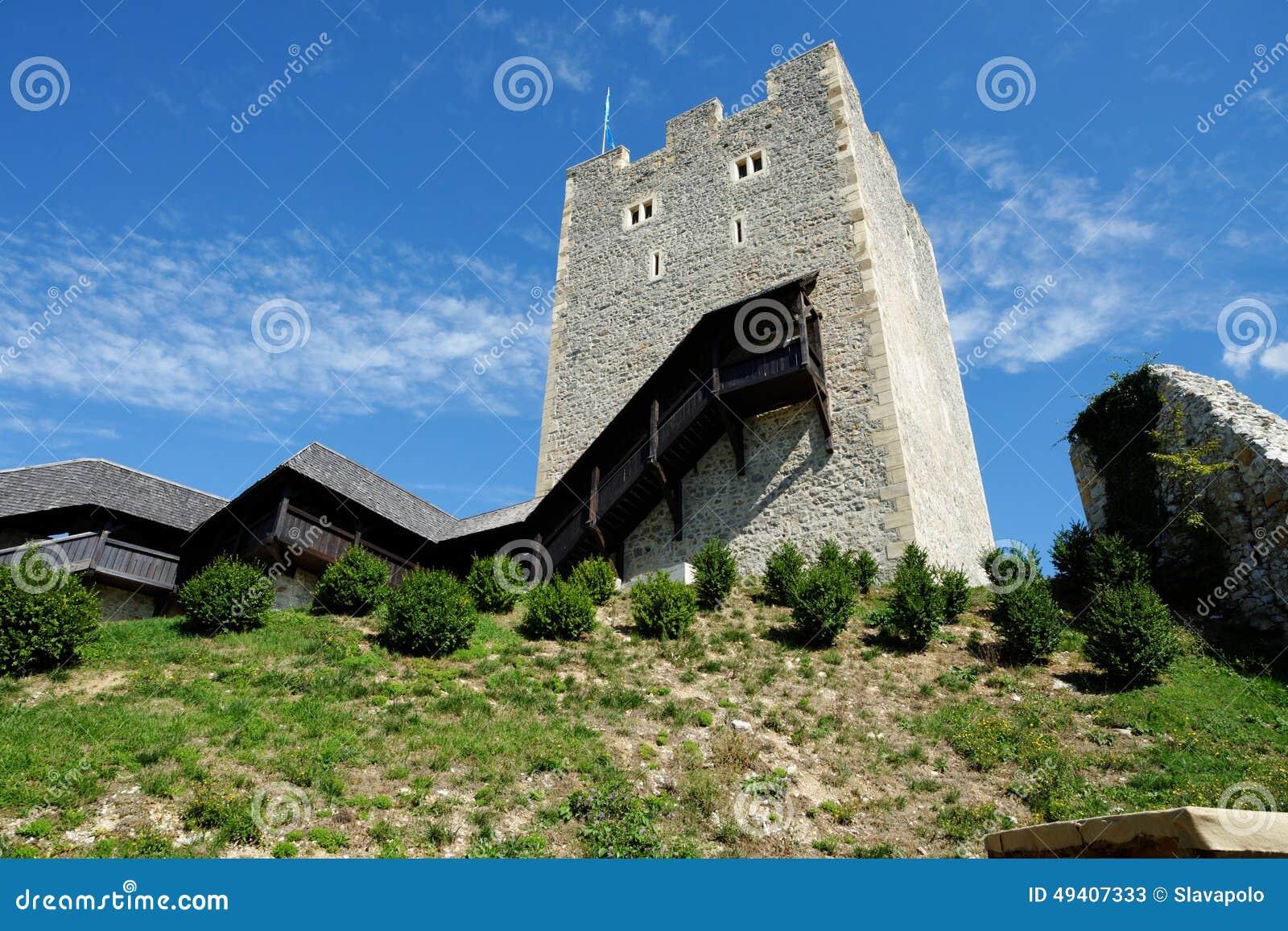 Download Halten Sie Turm Mittelalterlichen Schlosses Celje In Slowenien Stockbild - Bild von gebäude, historisch: 49407333