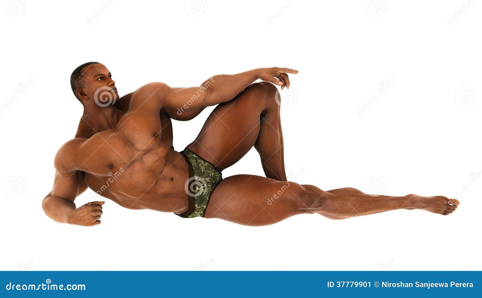 halterofilista do africano negro que encontra se na terra