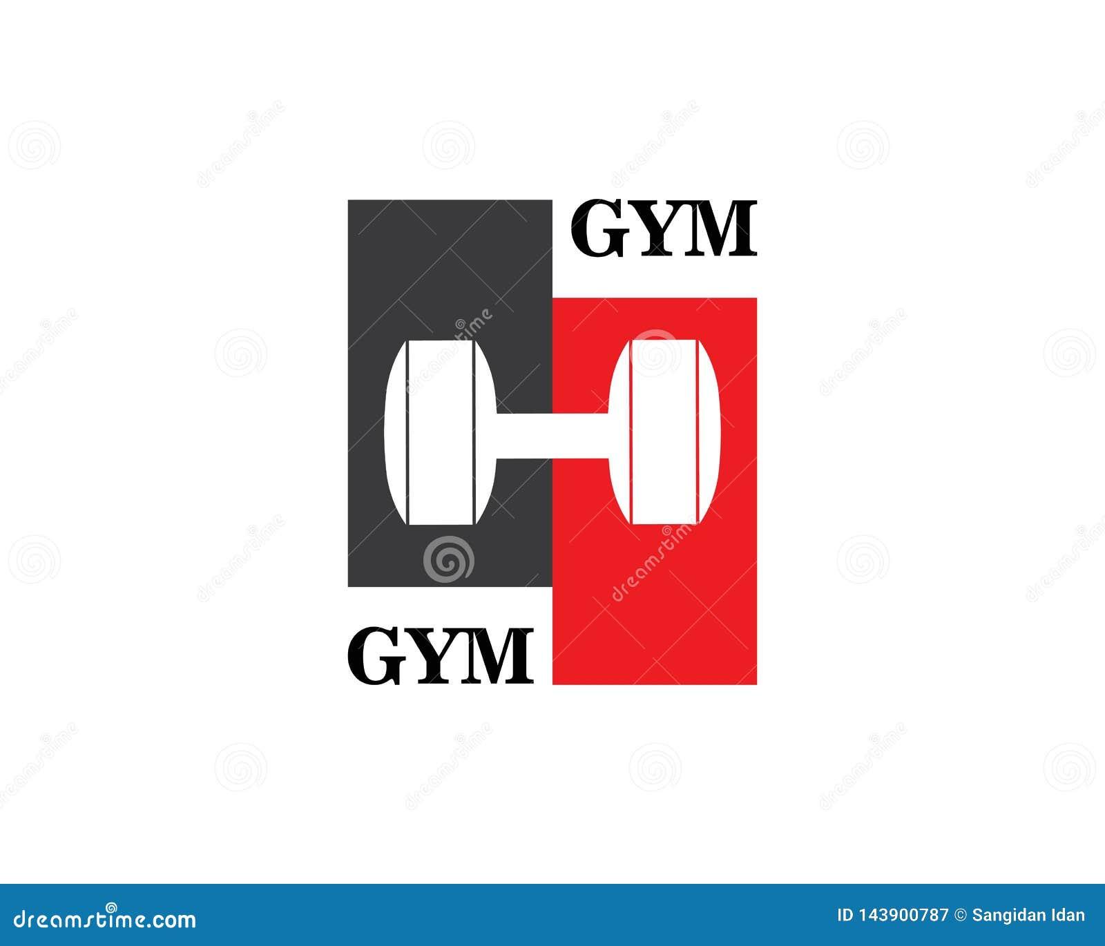 Halterofilista Logo Template Objeto e ícones do vetor para a etiqueta do esporte, crachá do Gym, logotipo da aptidão
