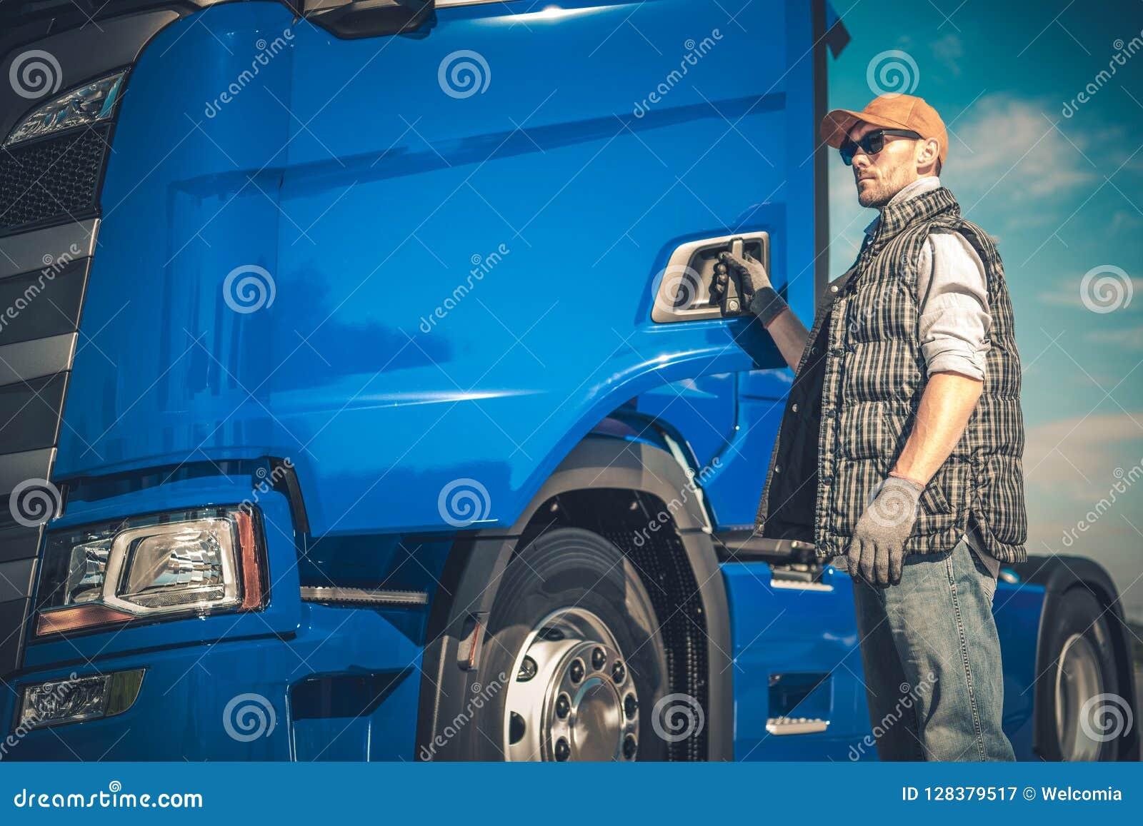 Halv lastbillasttransport