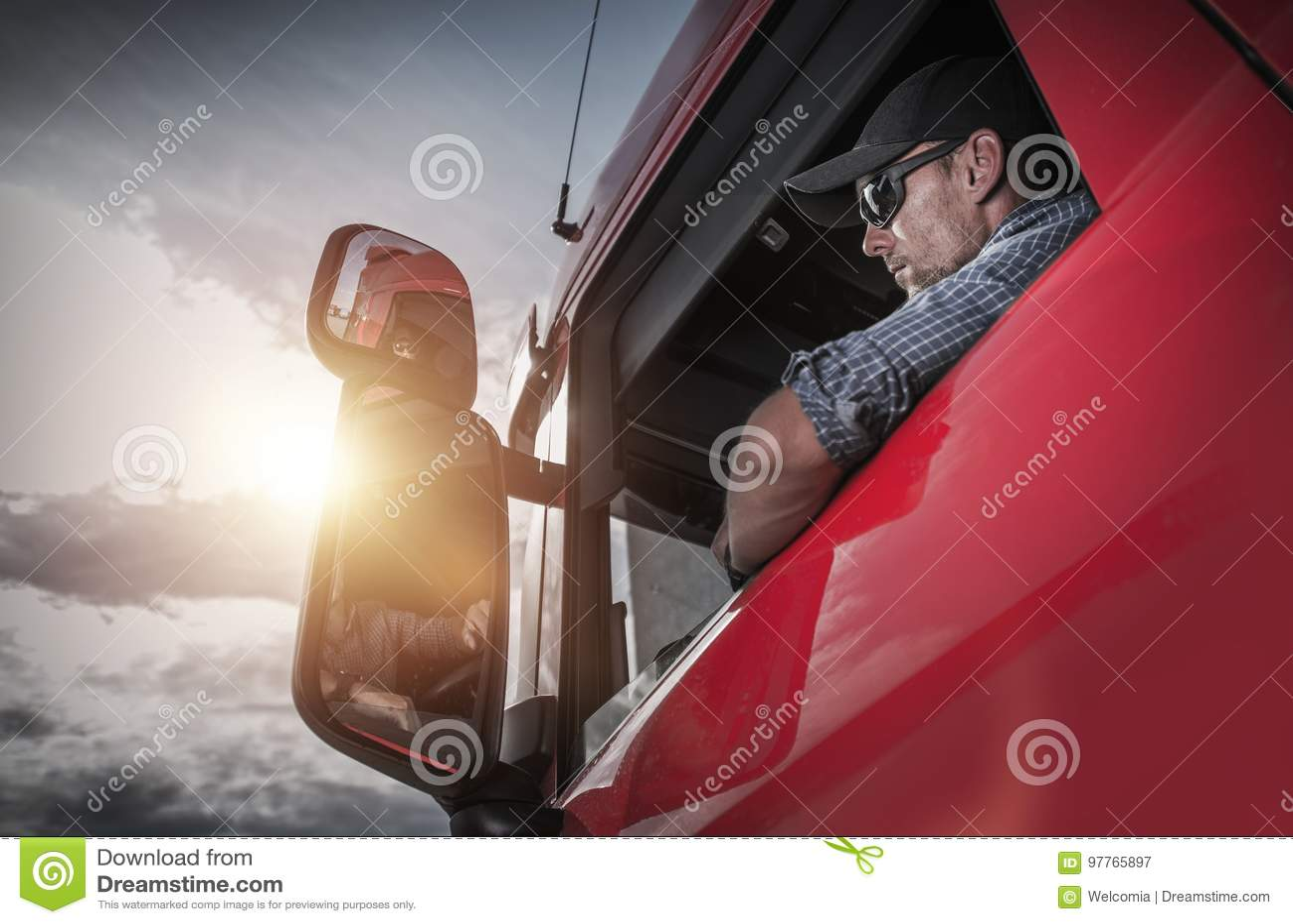 Halv lastbilsförare