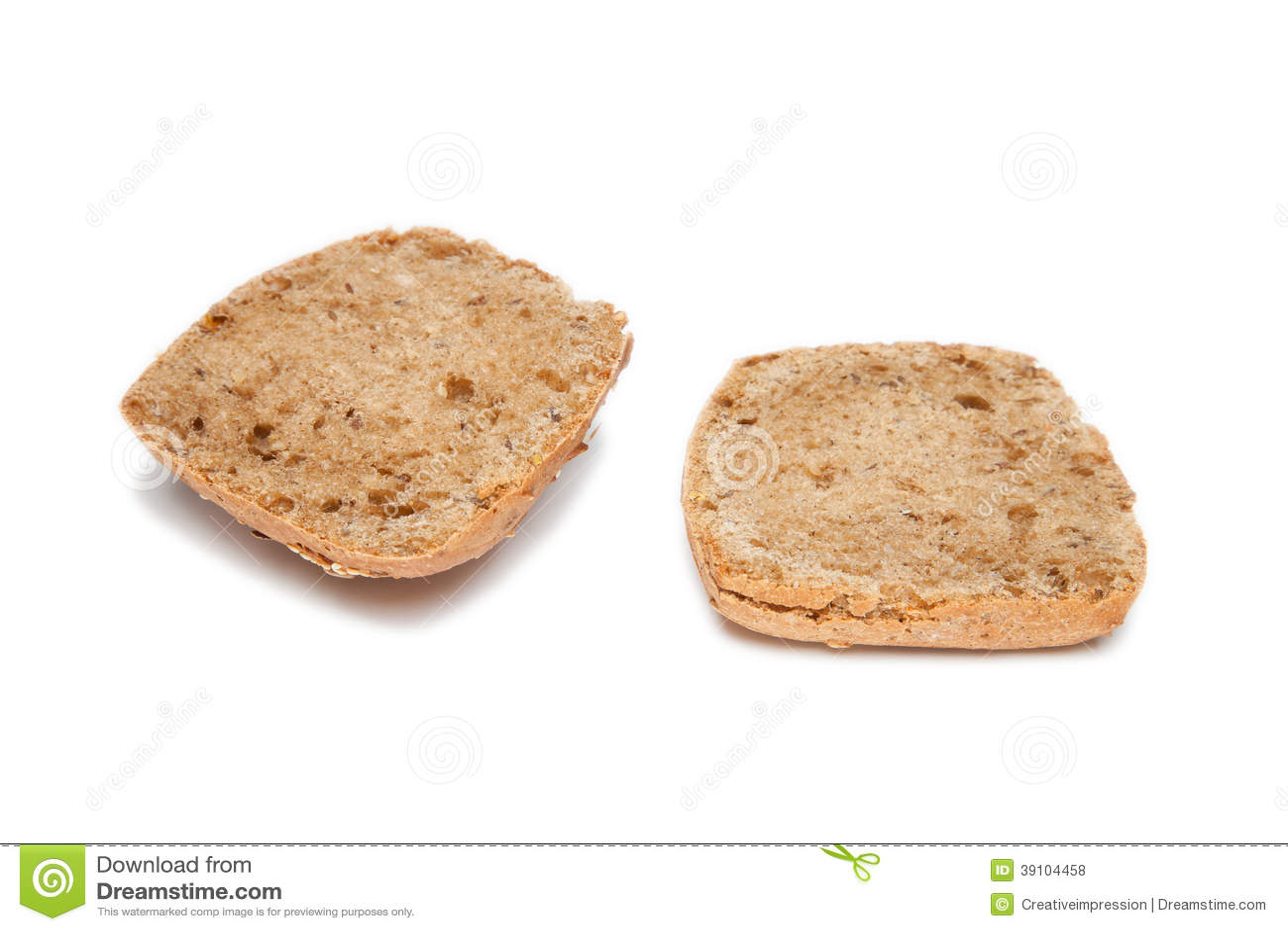 Halve geïsoleerde broodjes
