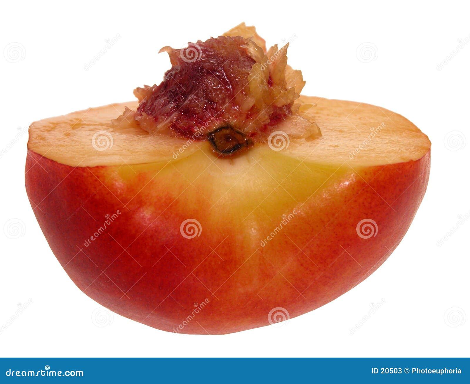 Halve nectarine