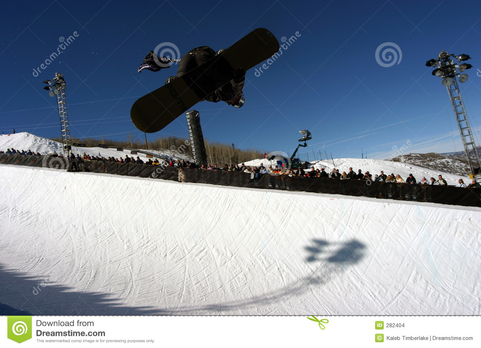 Halve pijp snowboarder 1