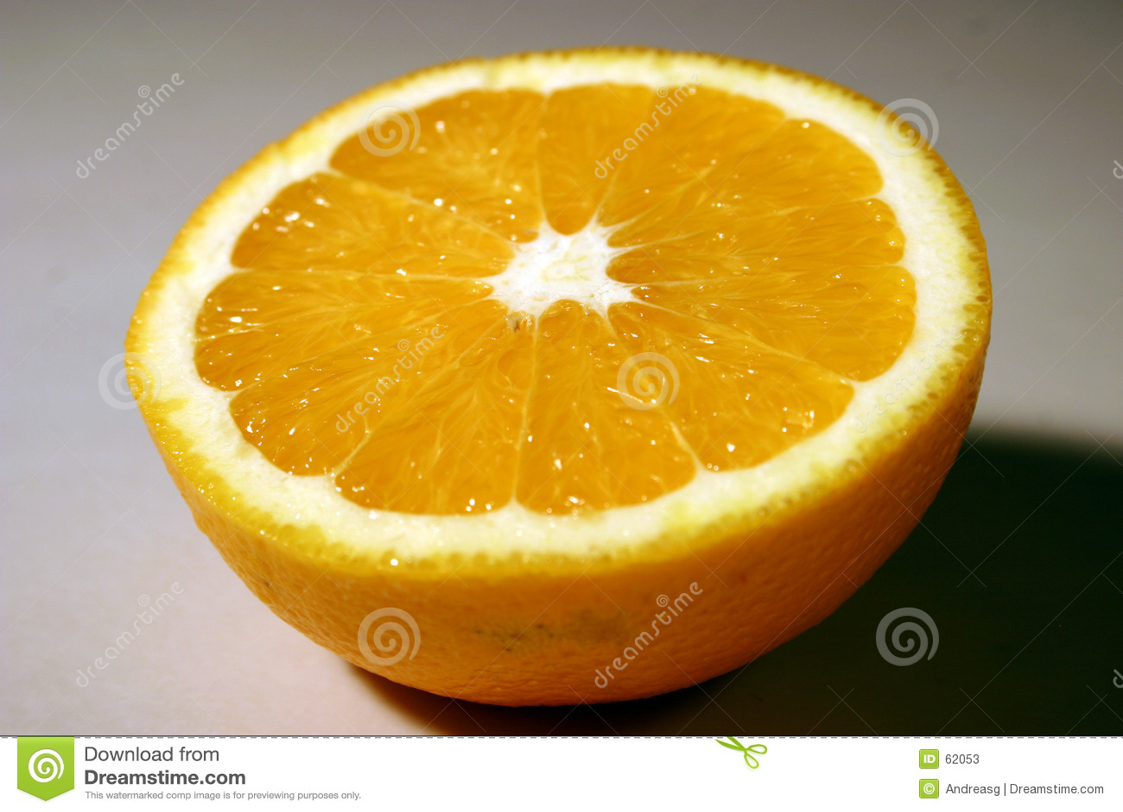 Halve sinaasappel