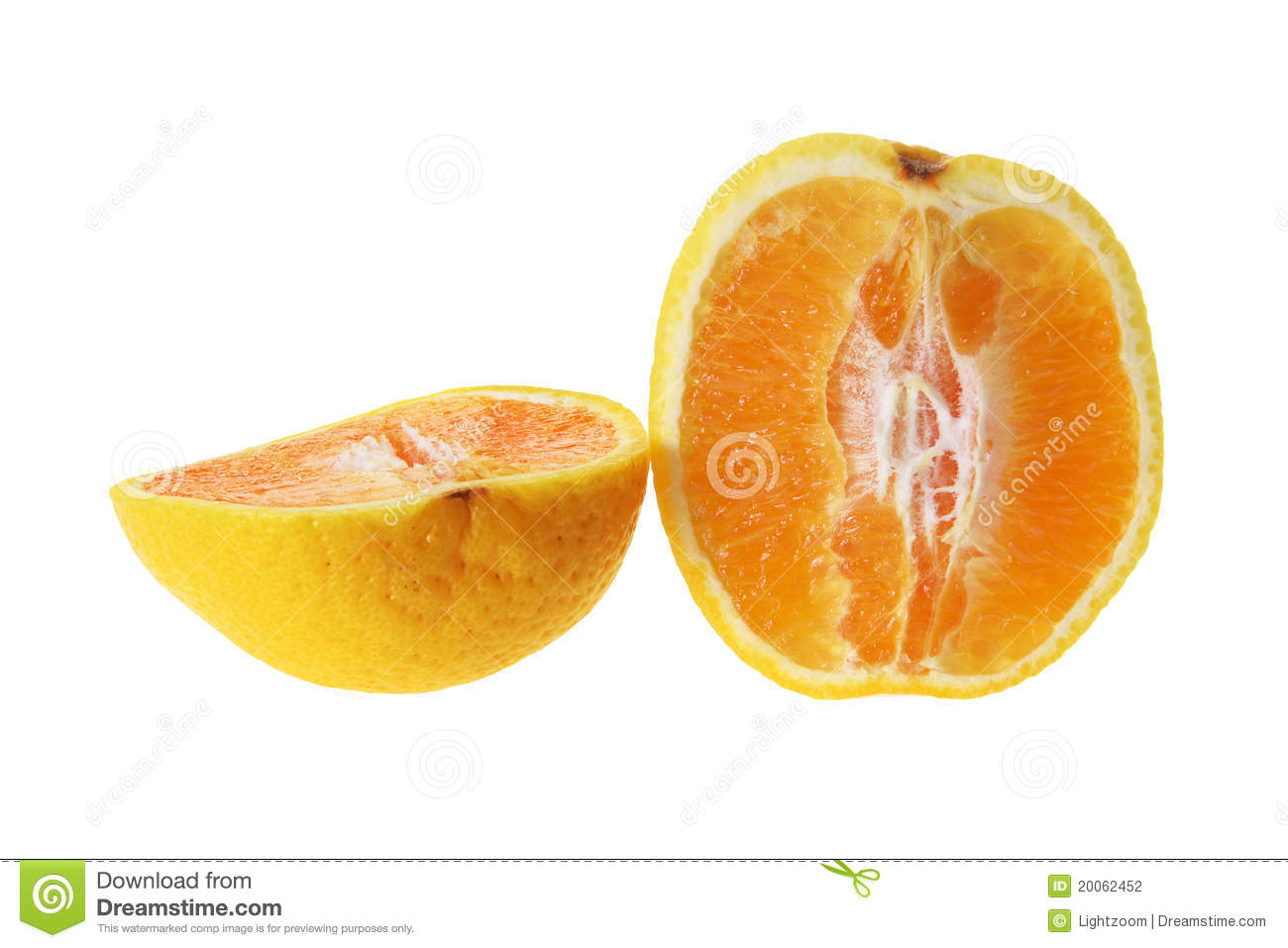 Halves of Orange on White Background. Images - Frompo