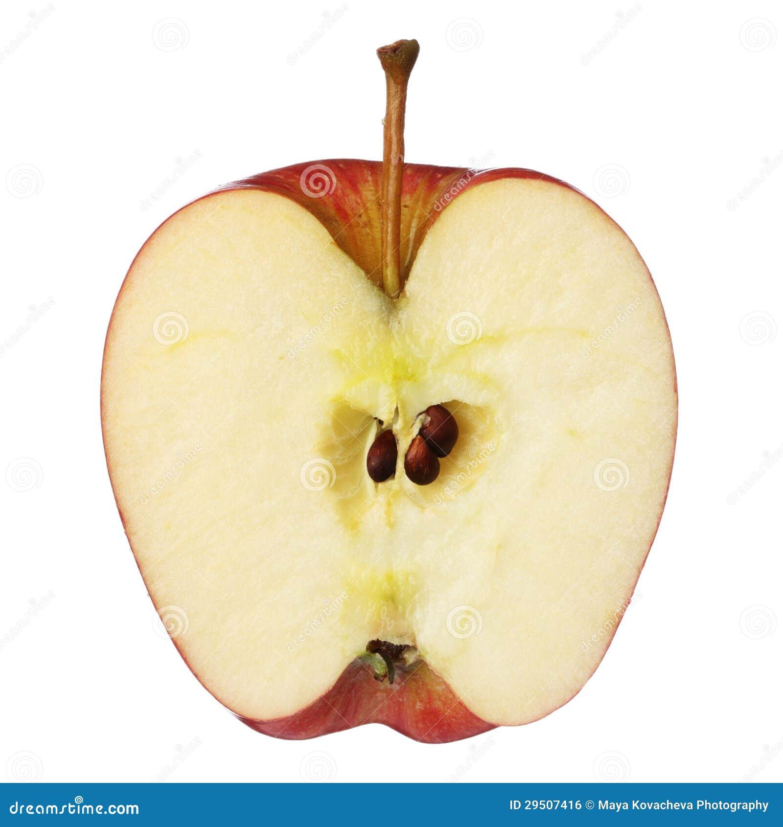Halvt äpple
